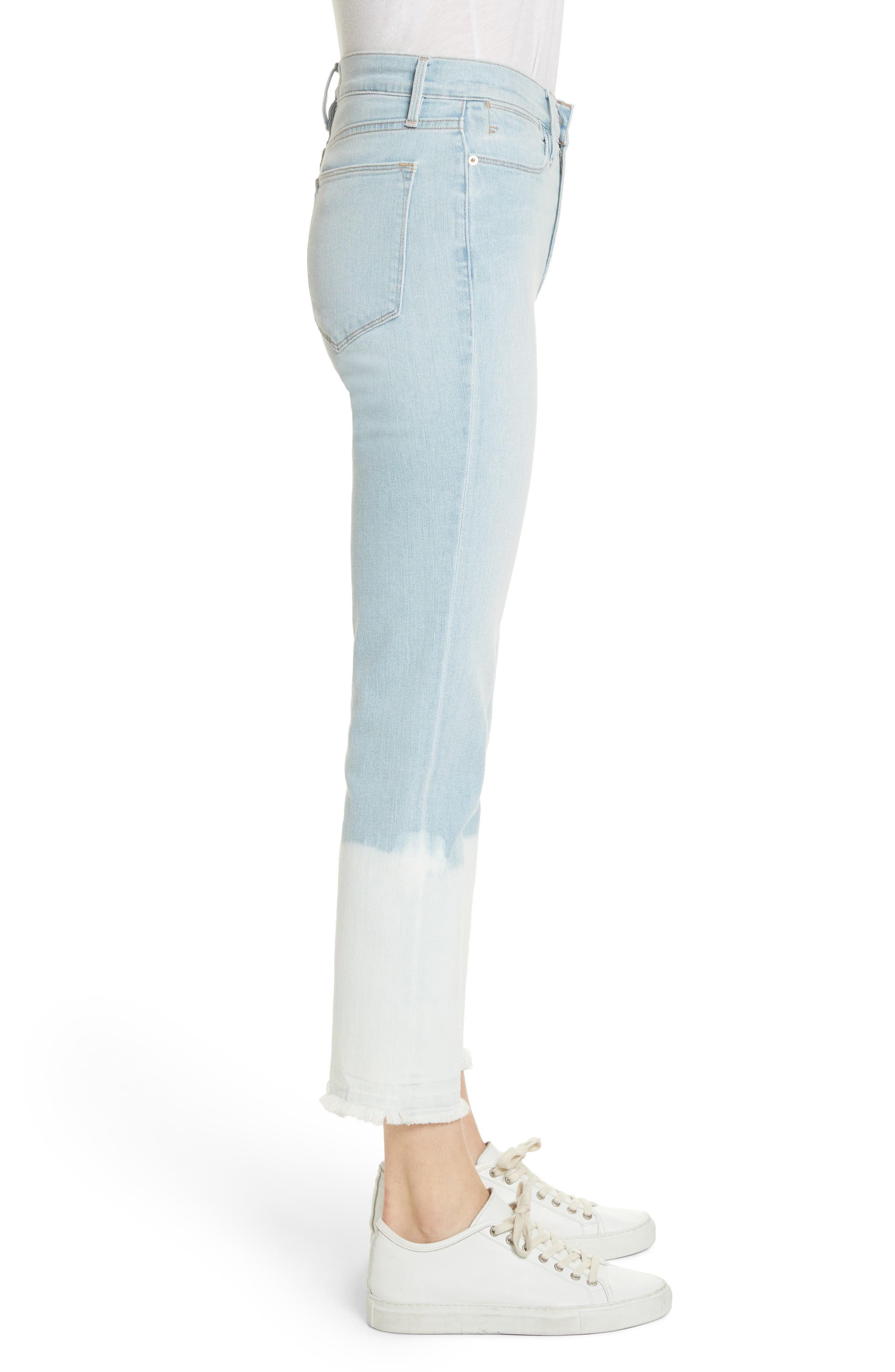 Le High Crop Straight Leg Jeans,                             Alternate thumbnail 4, color,                             Finchley