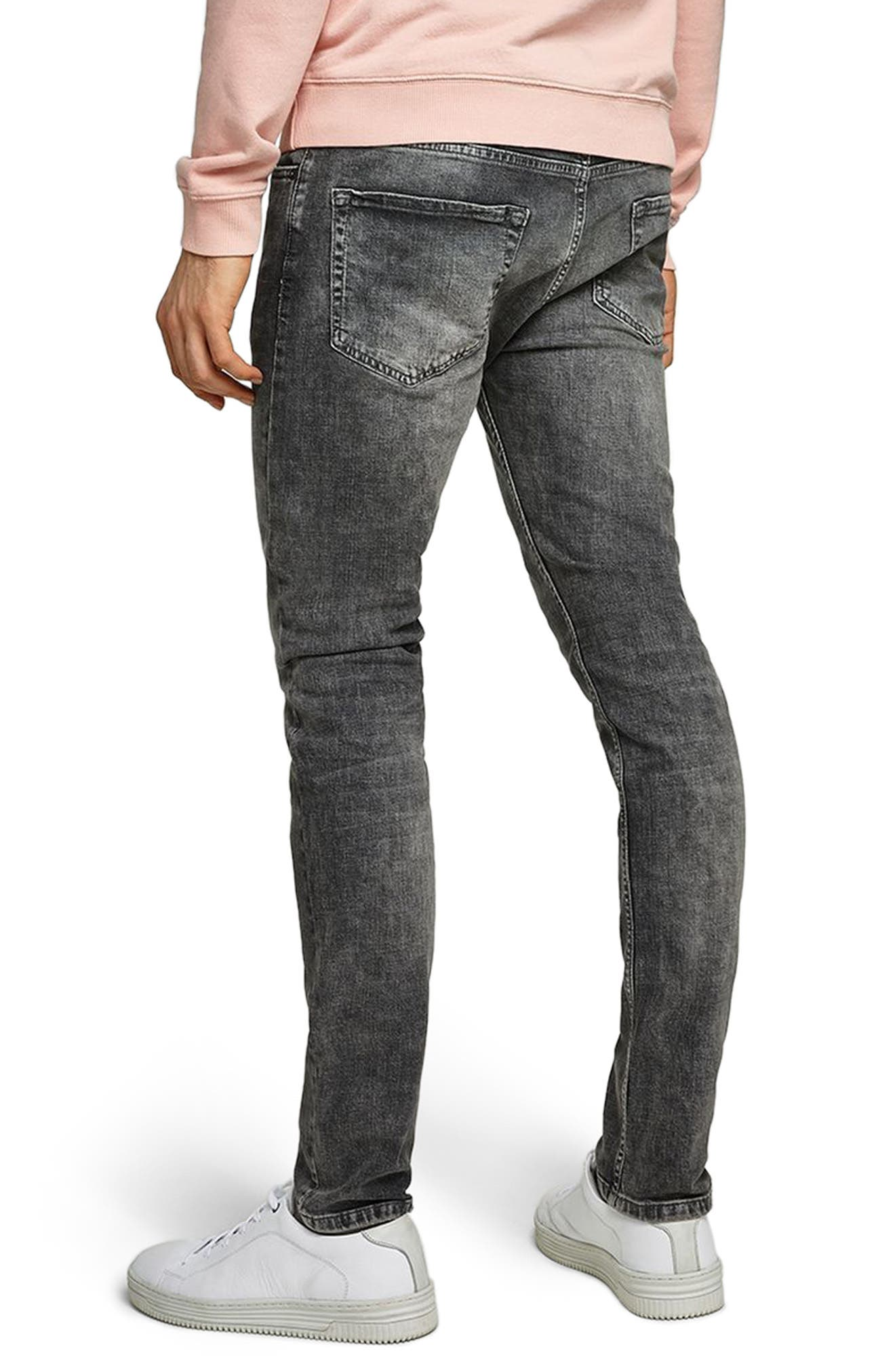Grey Stretch Skinny Jeans,                             Alternate thumbnail 2, color,                             Grey