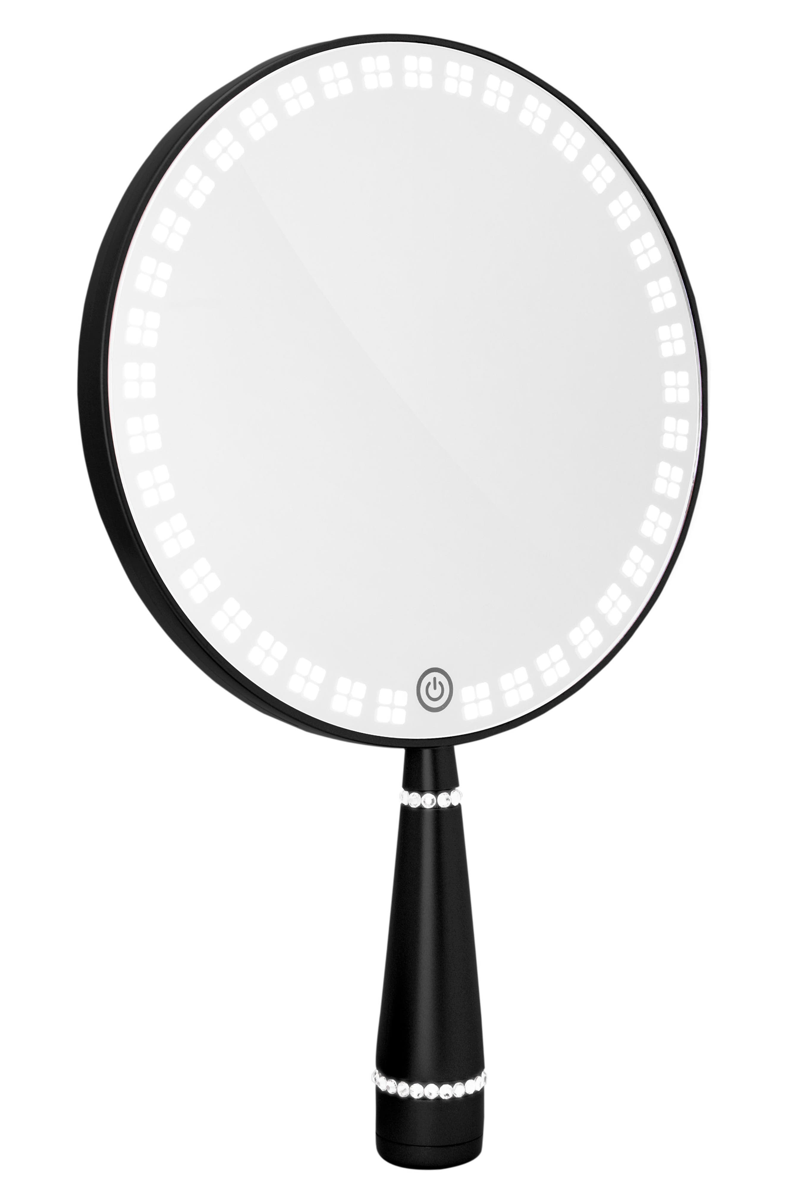 Bijou LED Hand Mirror,                             Alternate thumbnail 2, color,                             Black