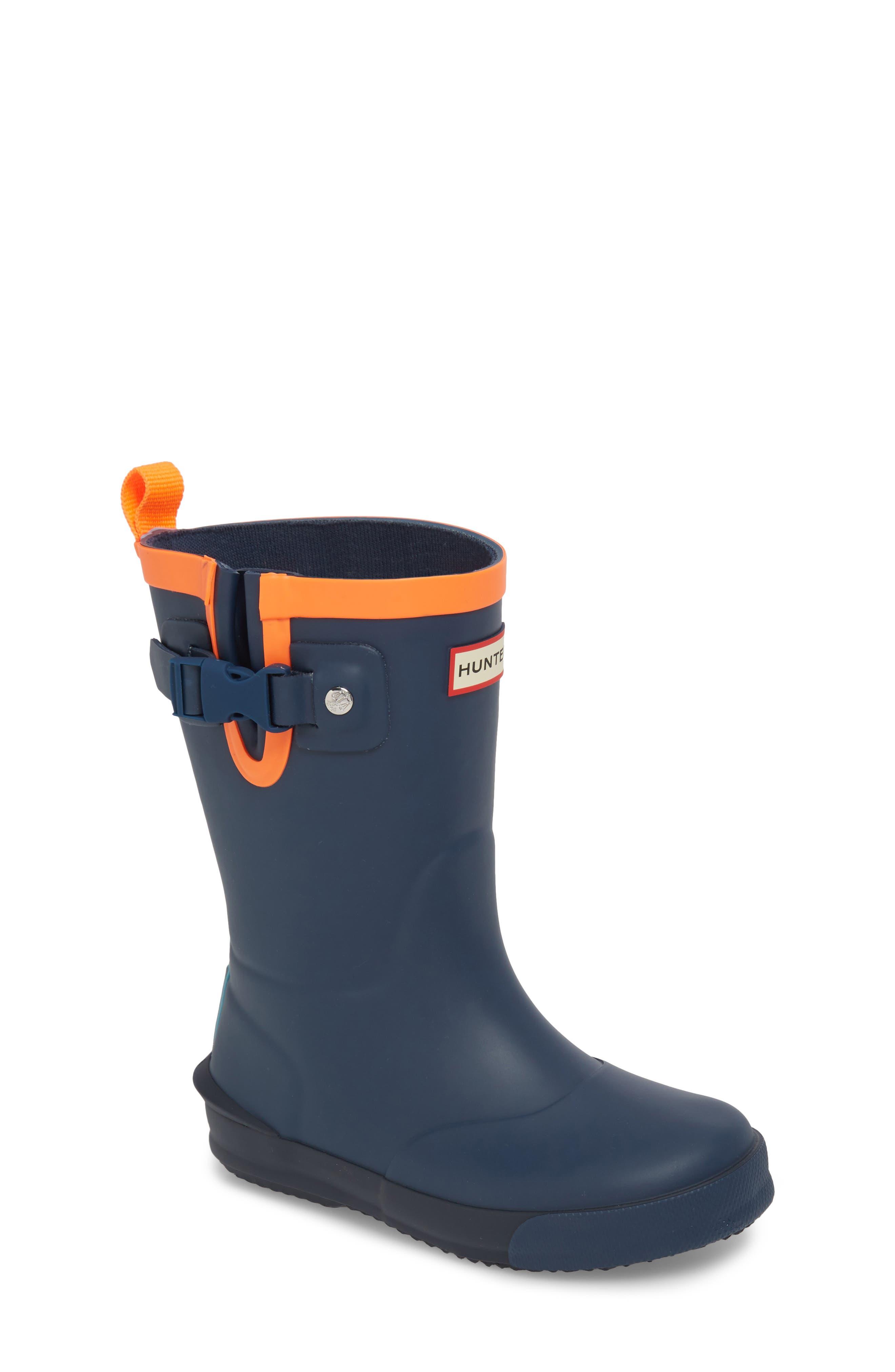 'Davison' Rain Boot,                         Main,                         color, Dark Lake Blue/ Navy/ Hazard