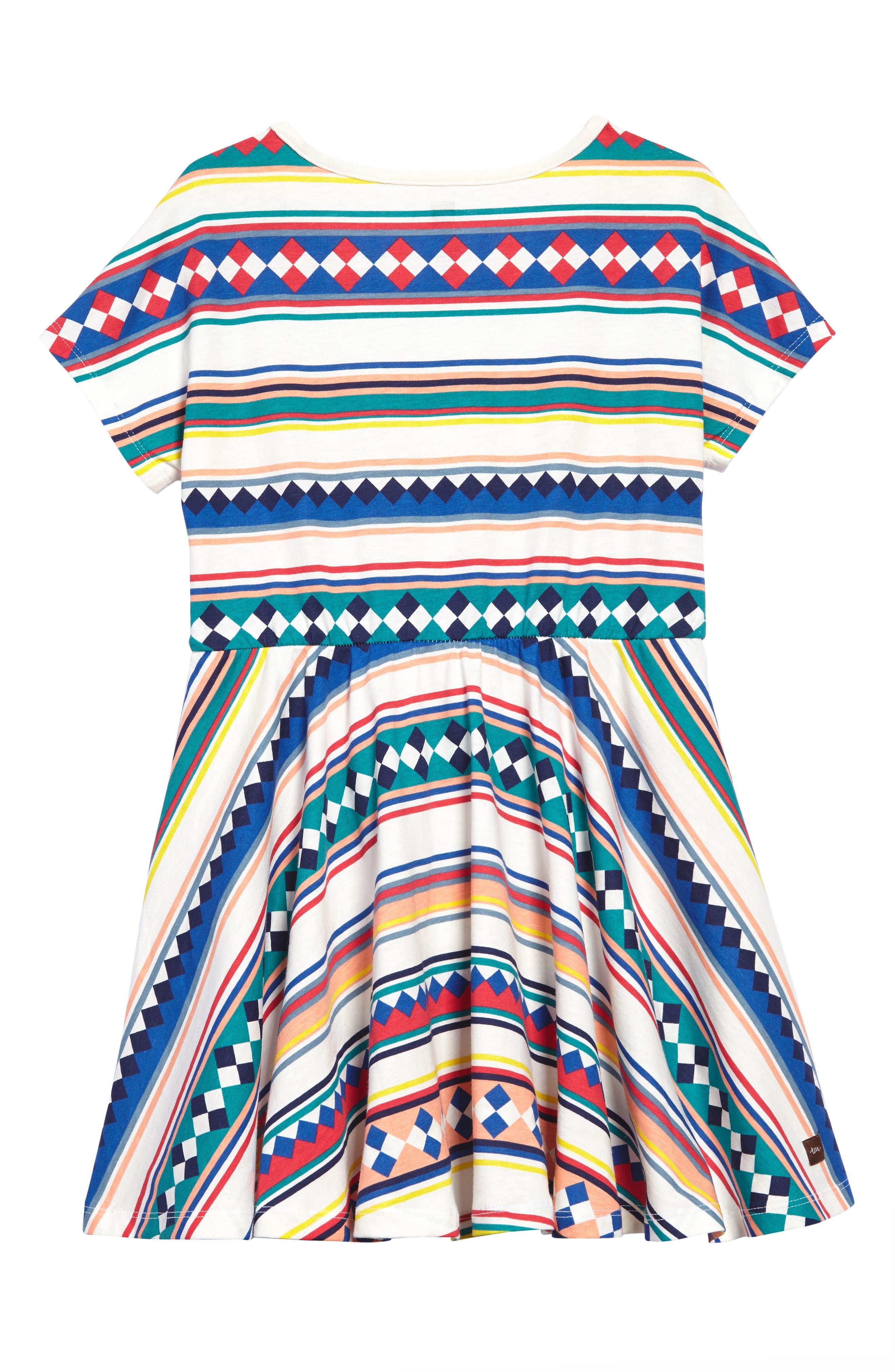 Alternate Image 3  - Tea Collection Stripe Dress (Toddler Girls, Little Girls & Big Girls)
