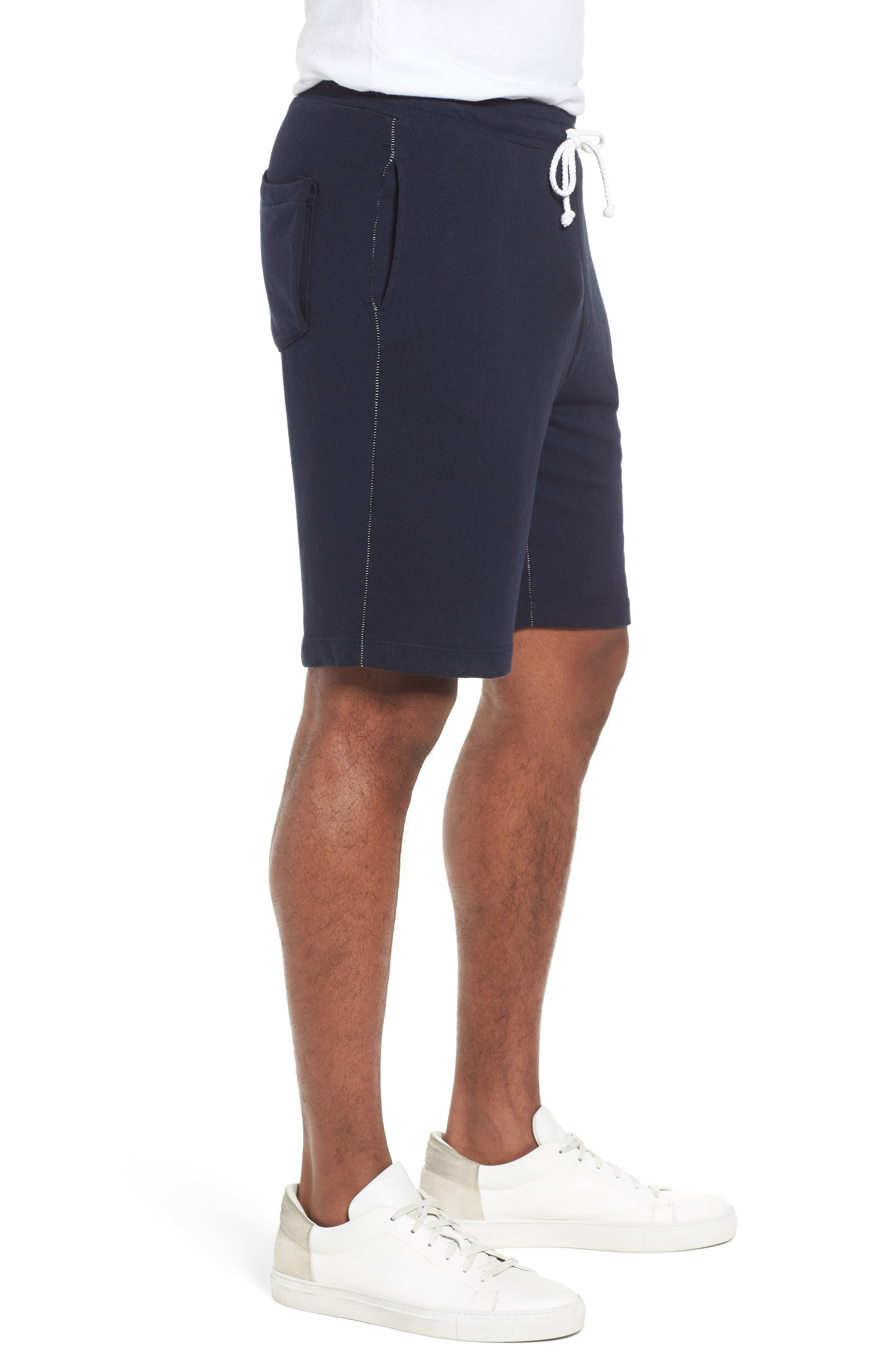 Lounge Sweat Shorts,                             Alternate thumbnail 3, color,                             Navy