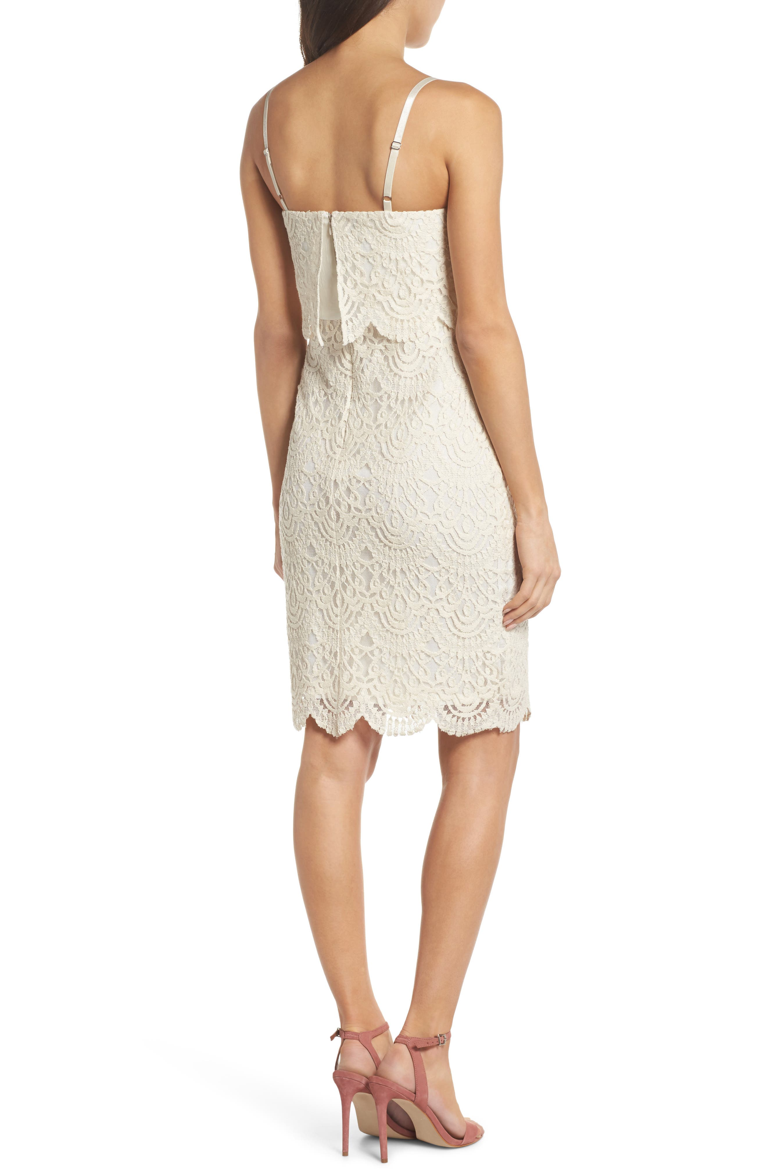 Barnsdall Afternoon Tiered Lace Dress,                             Alternate thumbnail 3, color,                             Vintage Lace