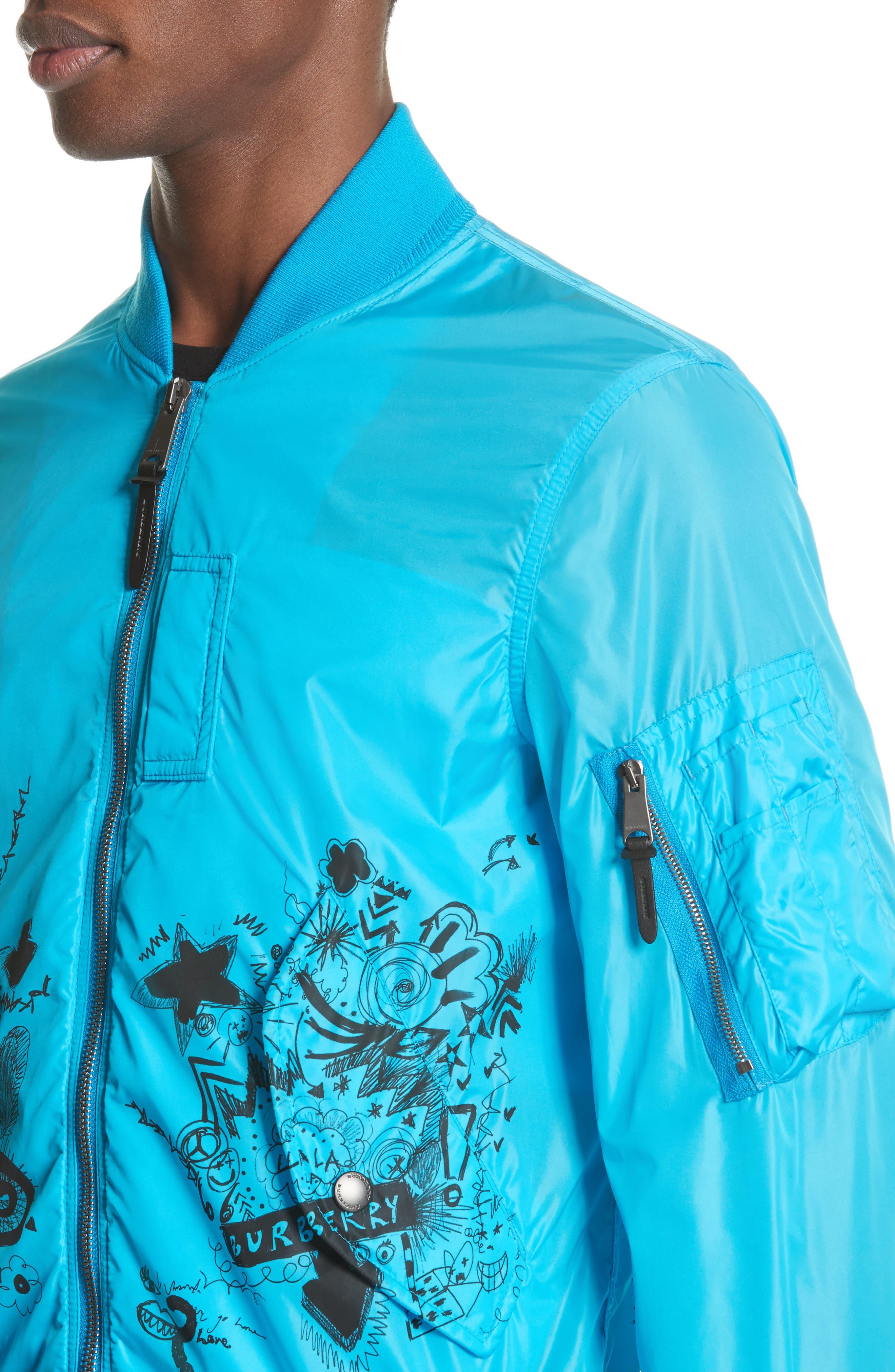Brinkley Standard Fit Jacket,                             Alternate thumbnail 4, color,                             Bright Blue