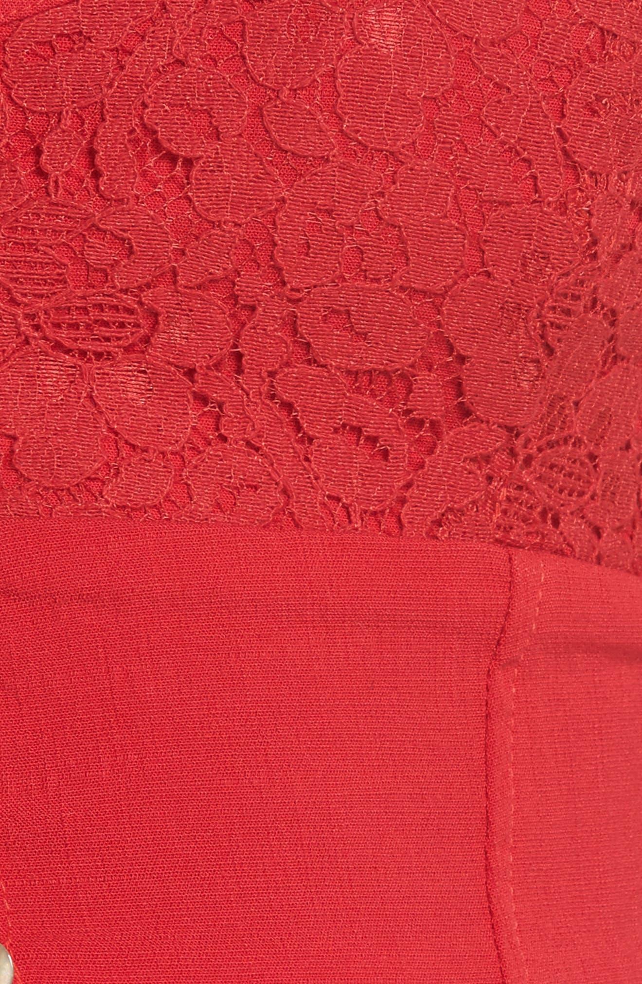 Intimately FP Here I Go Longline Bralette,                             Alternate thumbnail 7, color,                             Red