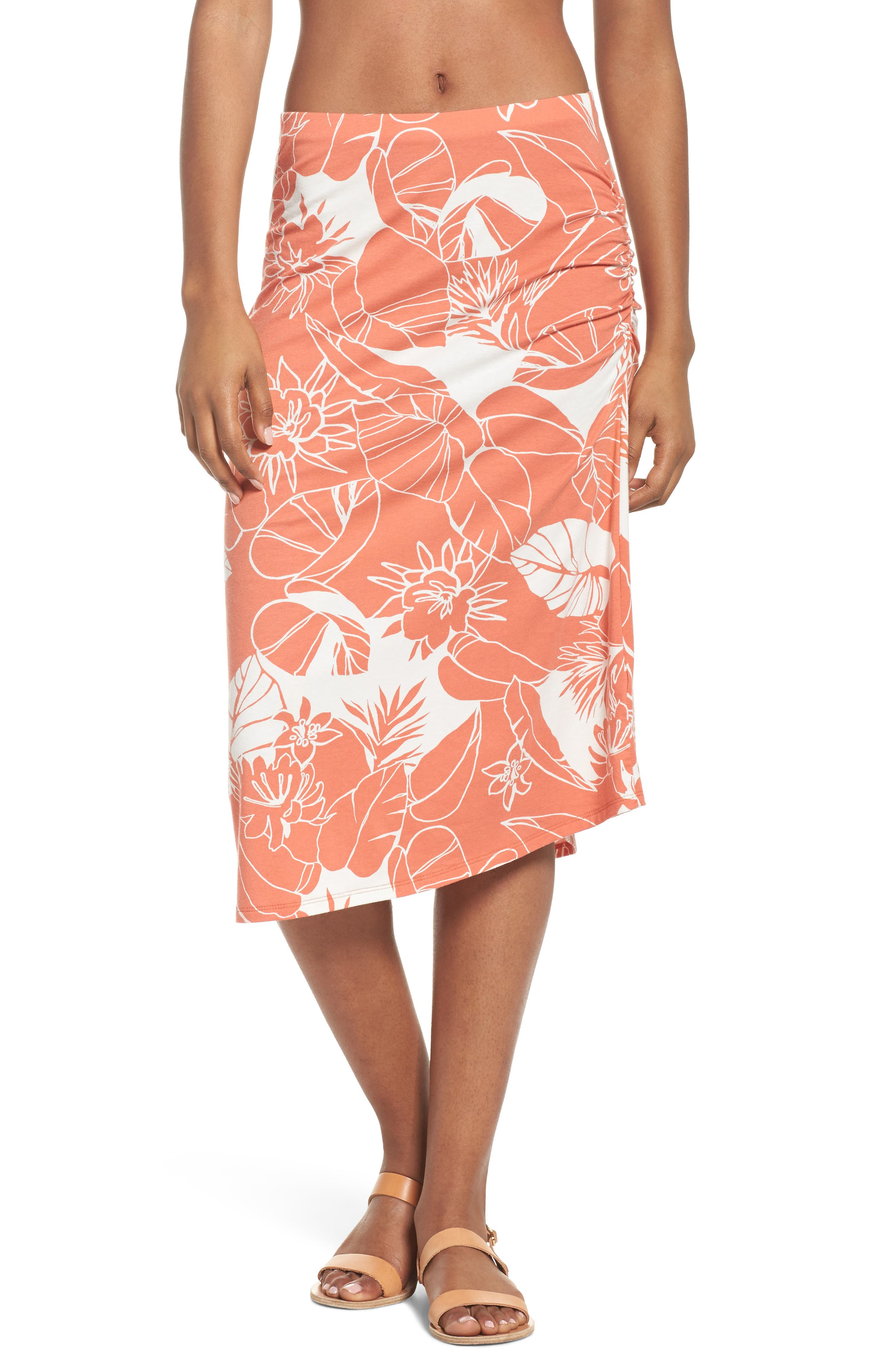 Dream Song Skirt,                         Main,                         color, Valley Flora Quartz Coral