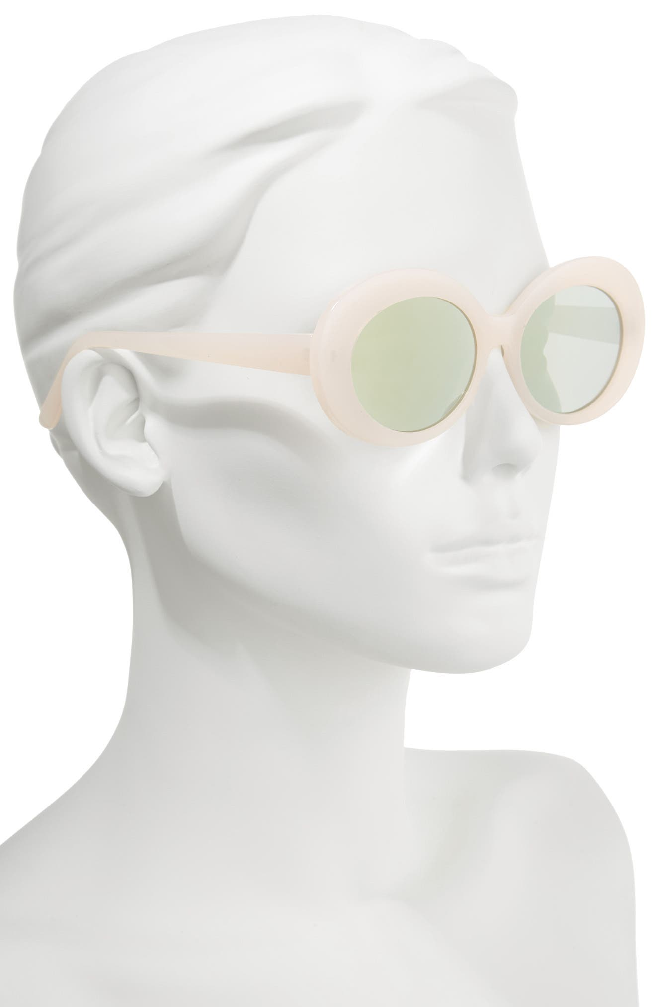 55mm Oval Sunglasses,                             Alternate thumbnail 2, color,                             Pink