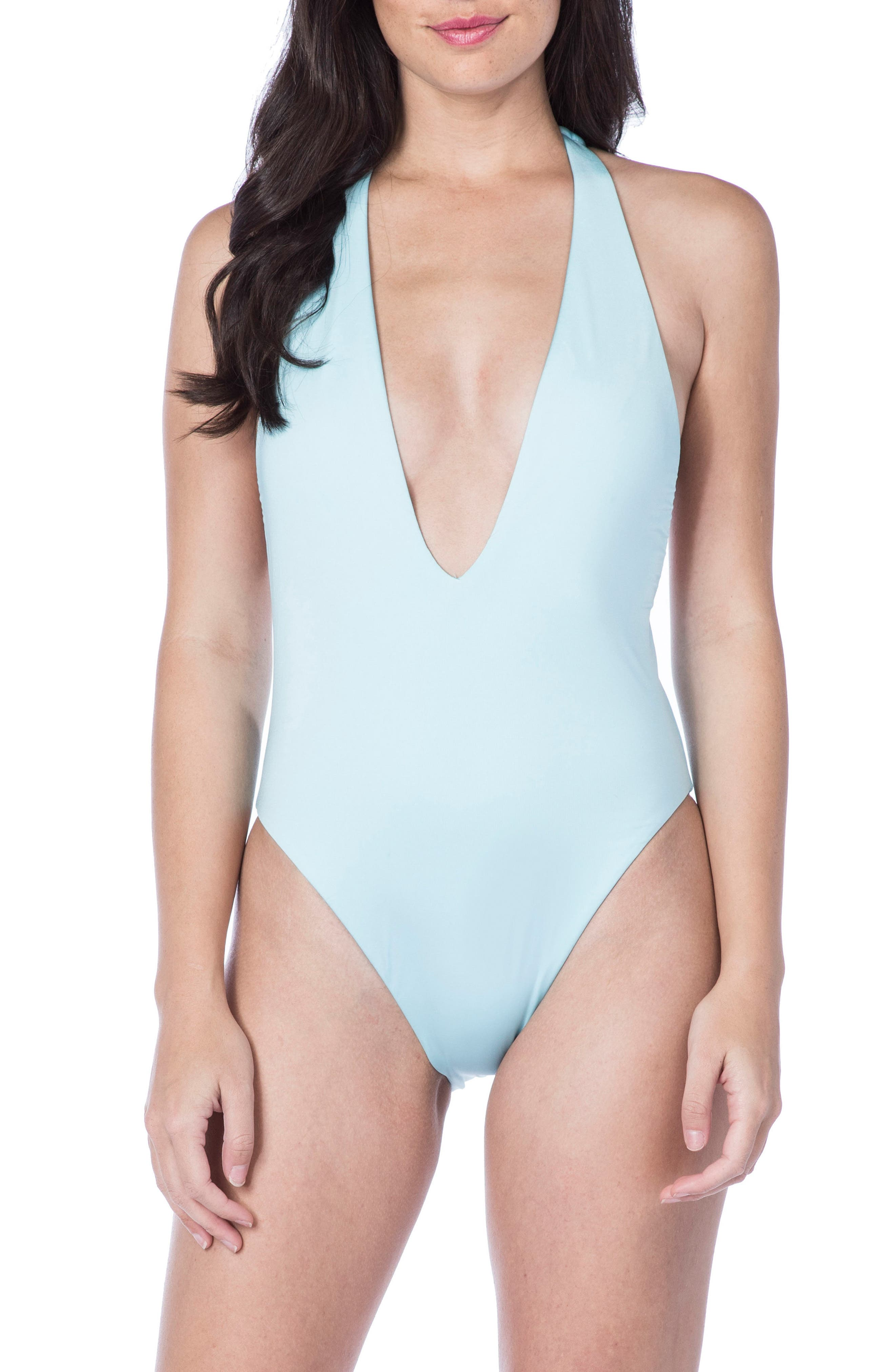 Alternate Image 1 Selected - The Bikini Lab Racerback One-Piece Swimsuit