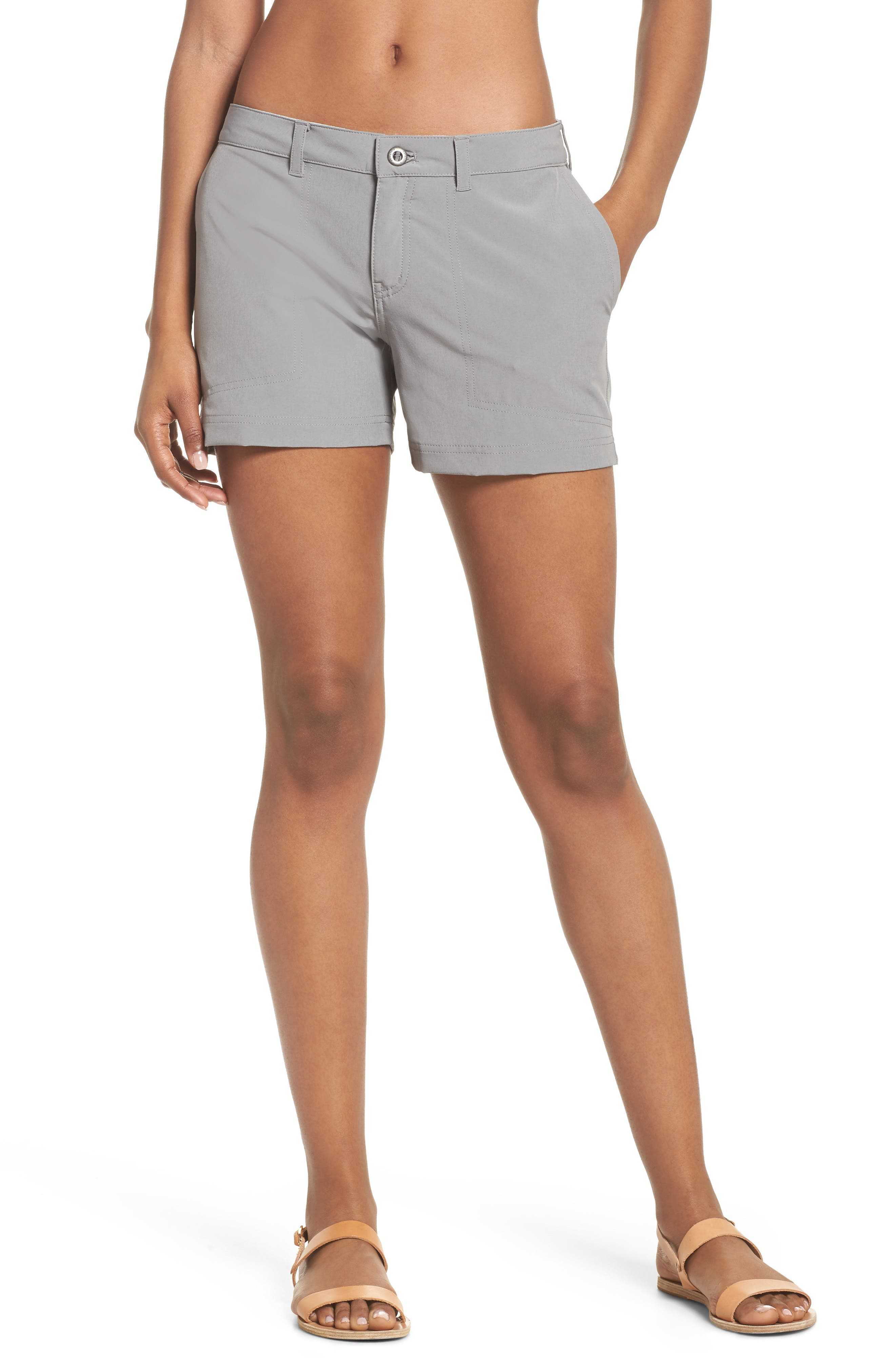Happy Hike Shorts,                         Main,                         color, Feather Grey