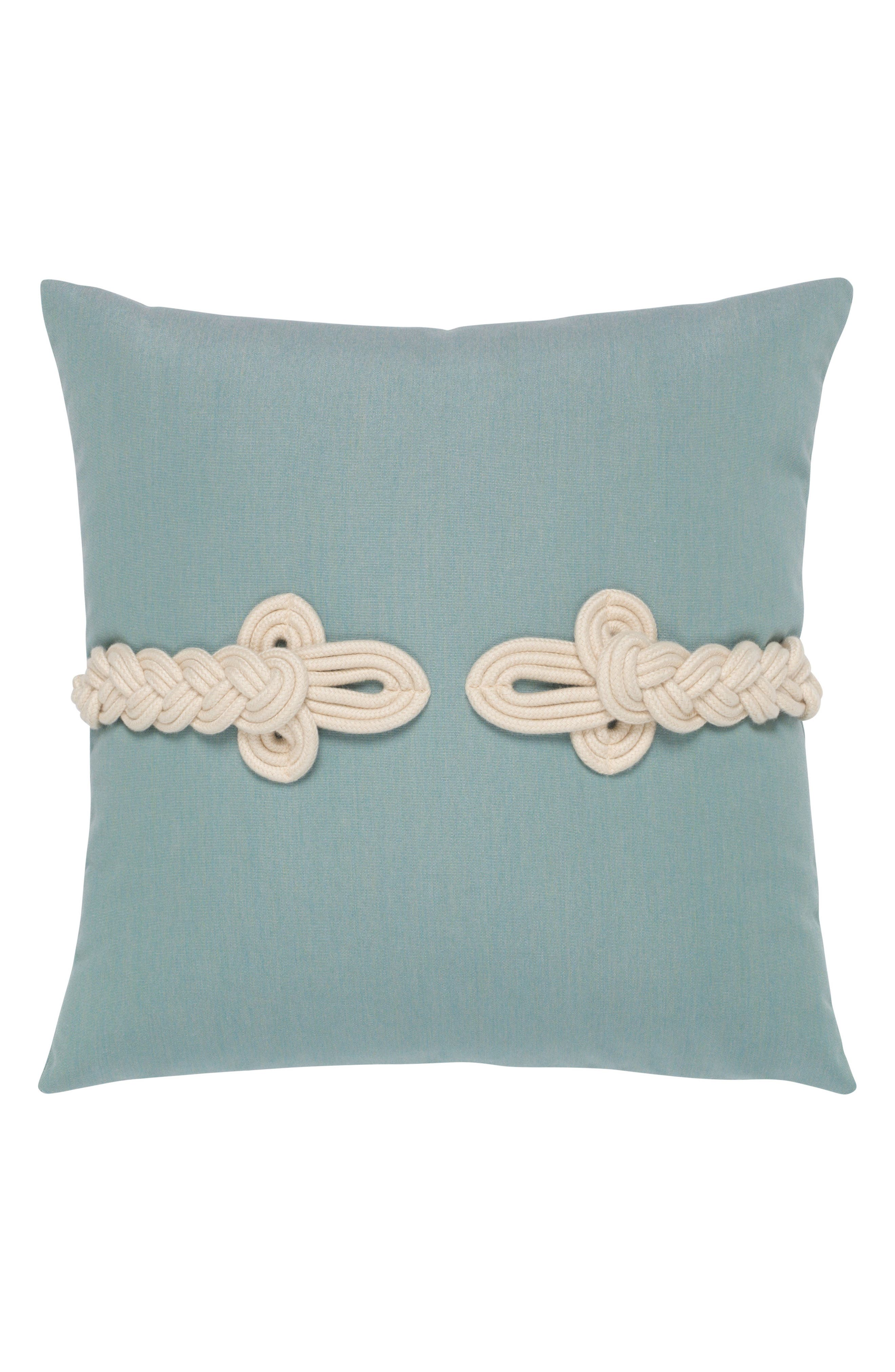 Frogs Clasp Indoor/Outdoor Accent Pillow,                         Main,                         color, Blue