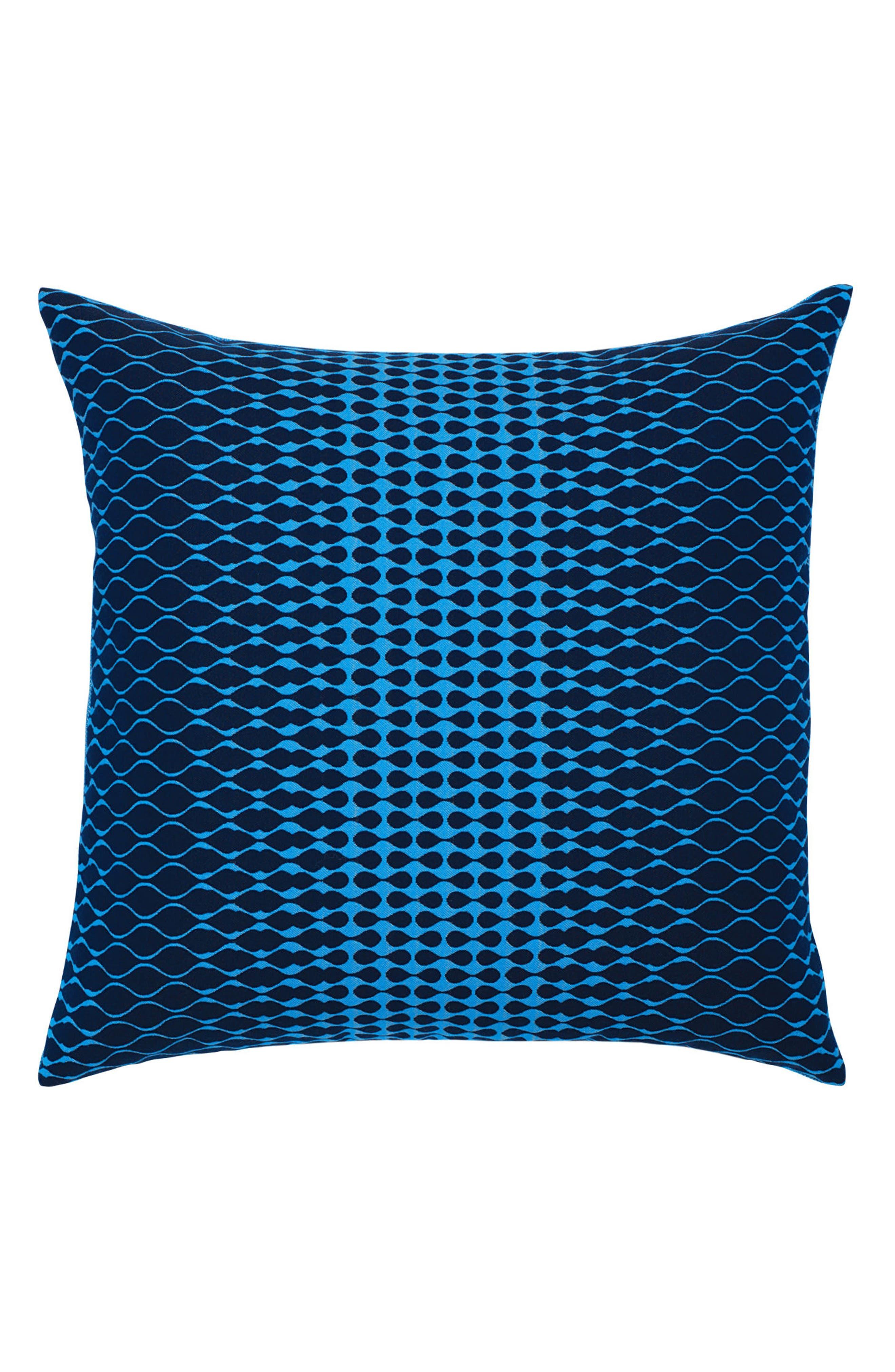 Optic Azure Indoor/Outdoor Accent Pillow,                         Main,                         color, Blue