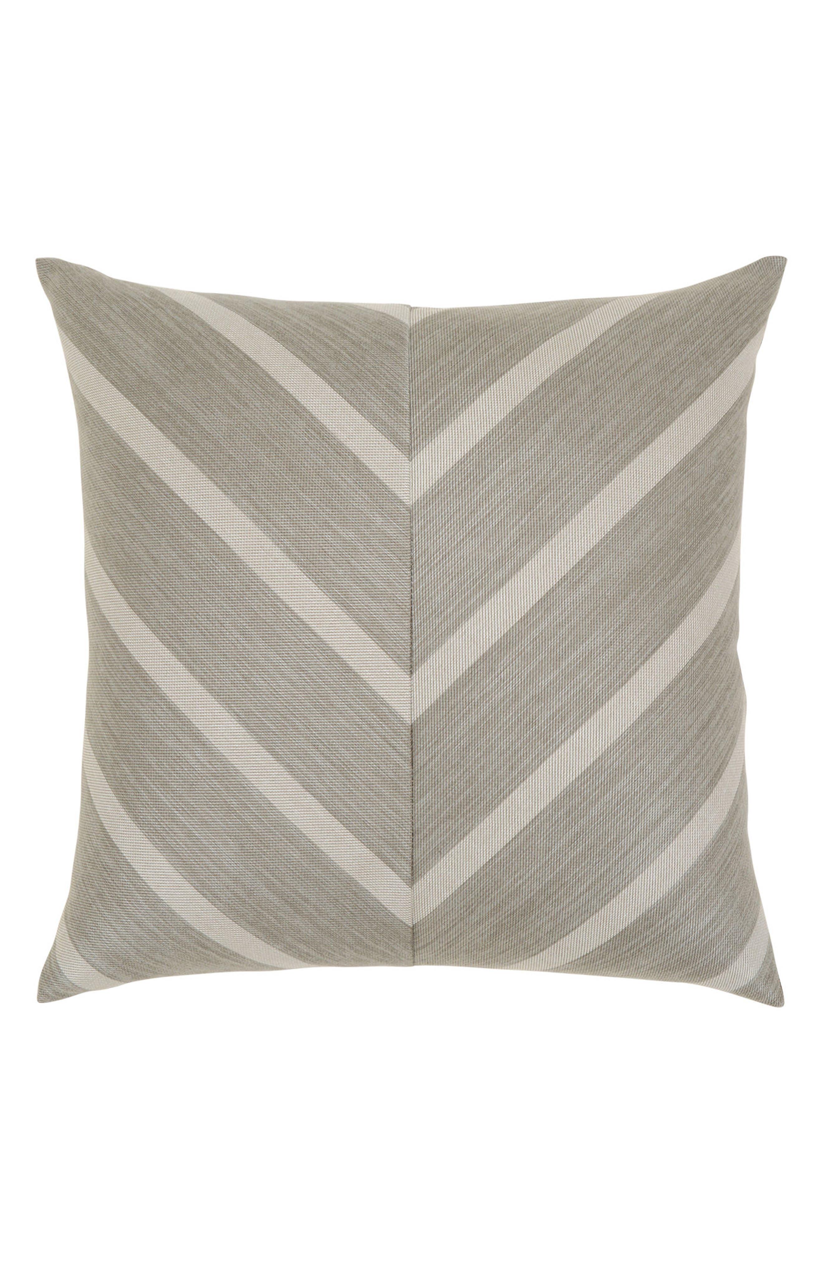 Sparkle Chevron Indoor/Outdoor Accent Pillow,                             Main thumbnail 1, color,                             Grey