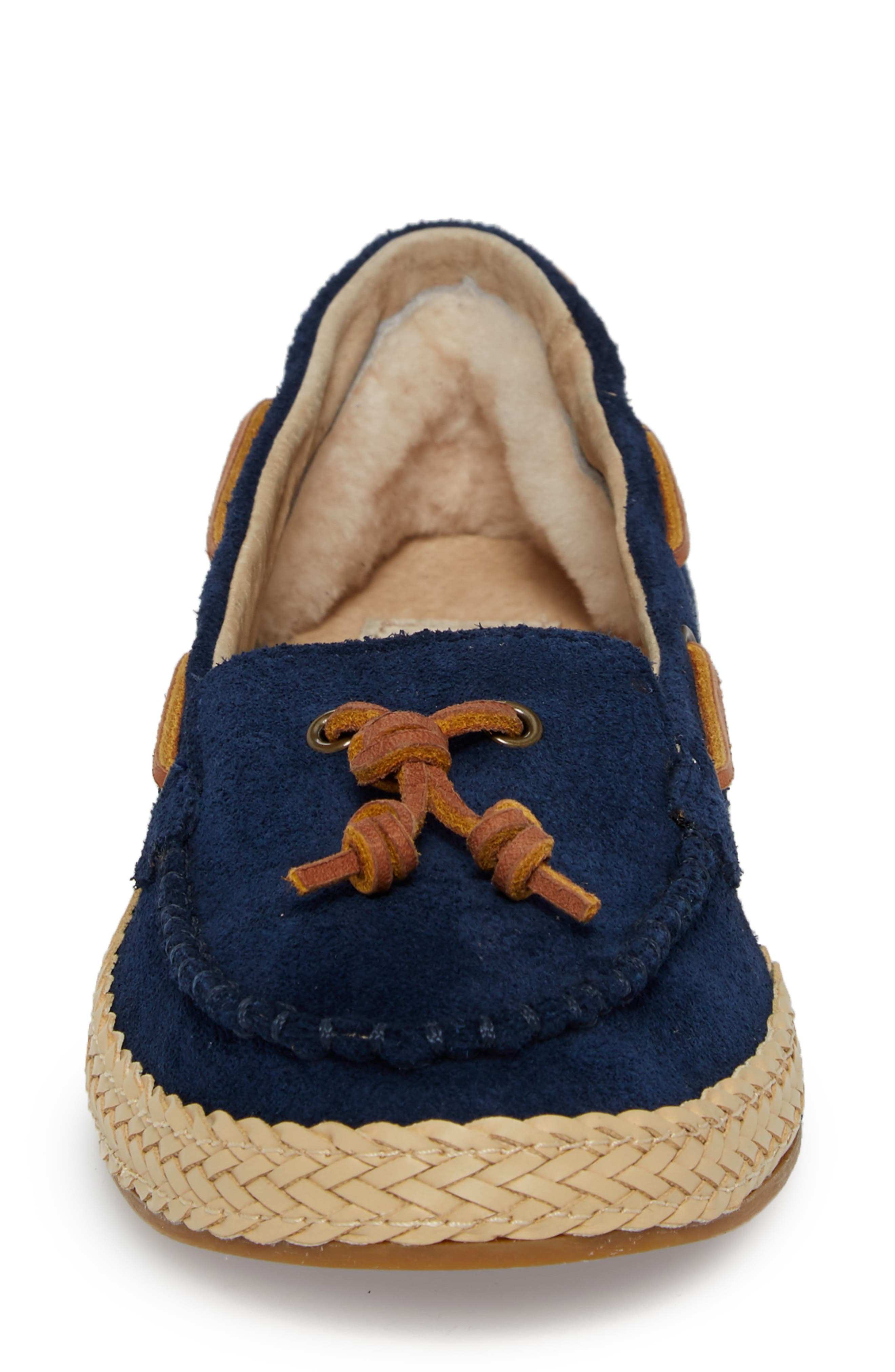 Channtal Loafer,                             Alternate thumbnail 4, color,                             Navy Suede