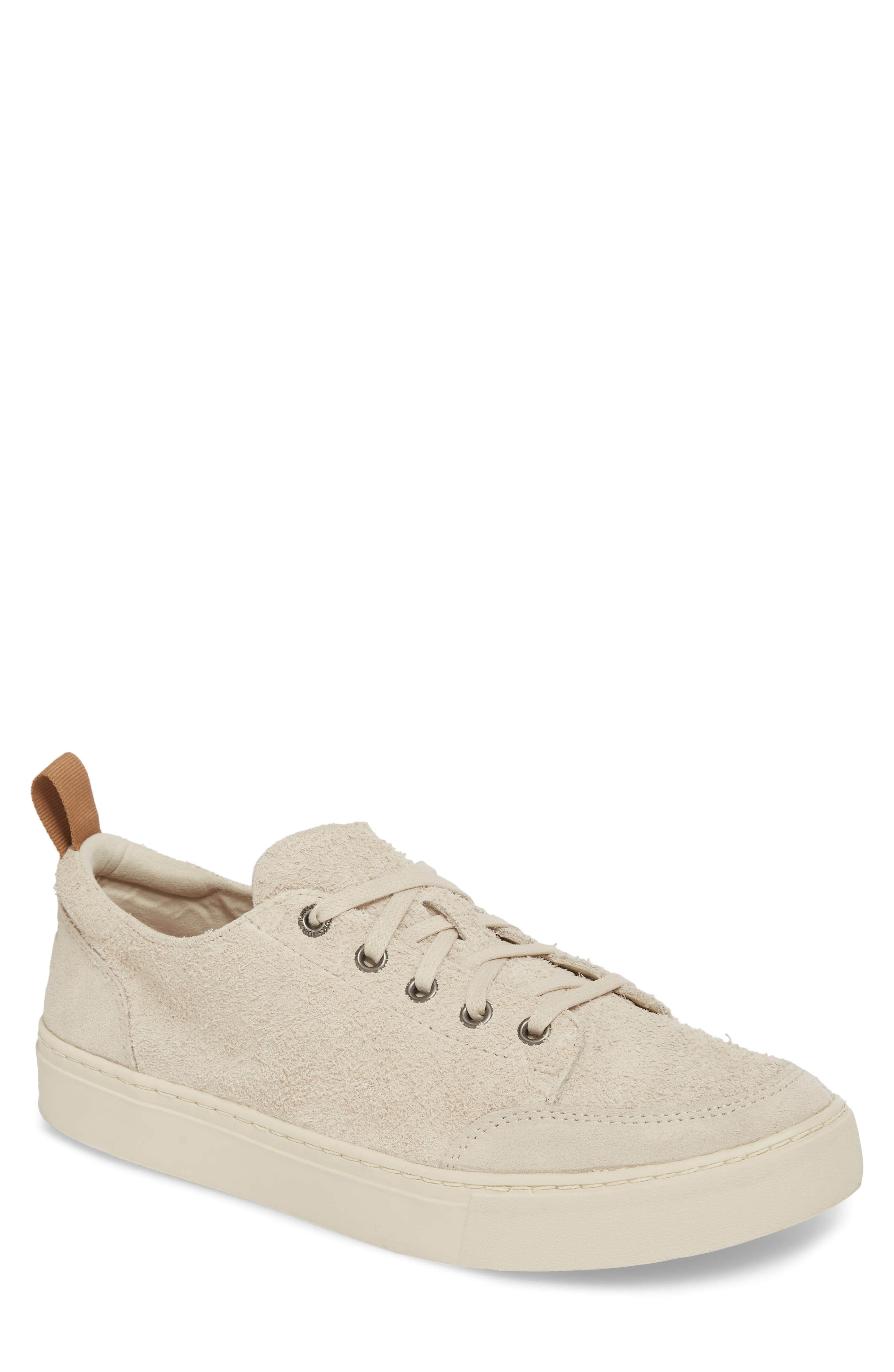 Landen Sneaker,                         Main,                         color, Birch Shaggy Suede