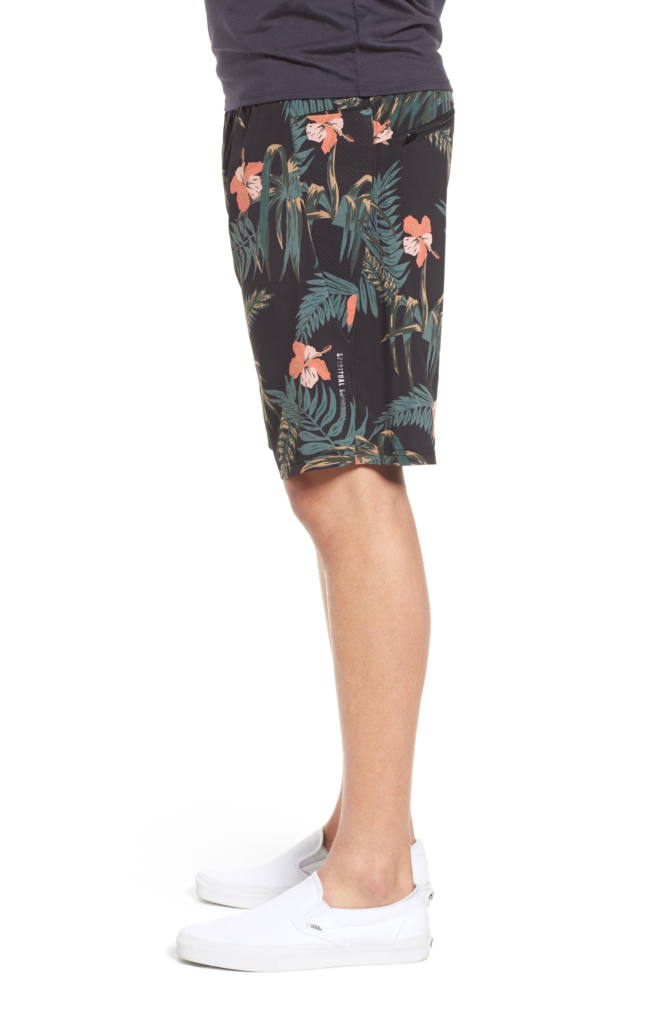 Ignite Shorts,                             Alternate thumbnail 3, color,                             Floral/ Multi
