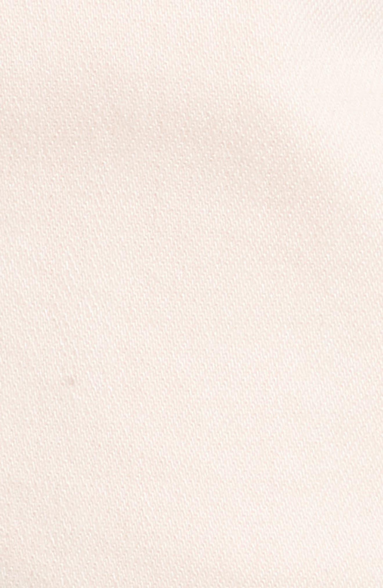 Renee Notch Raw Hem Denim Shorts,                             Alternate thumbnail 5, color,                             Blush Pink