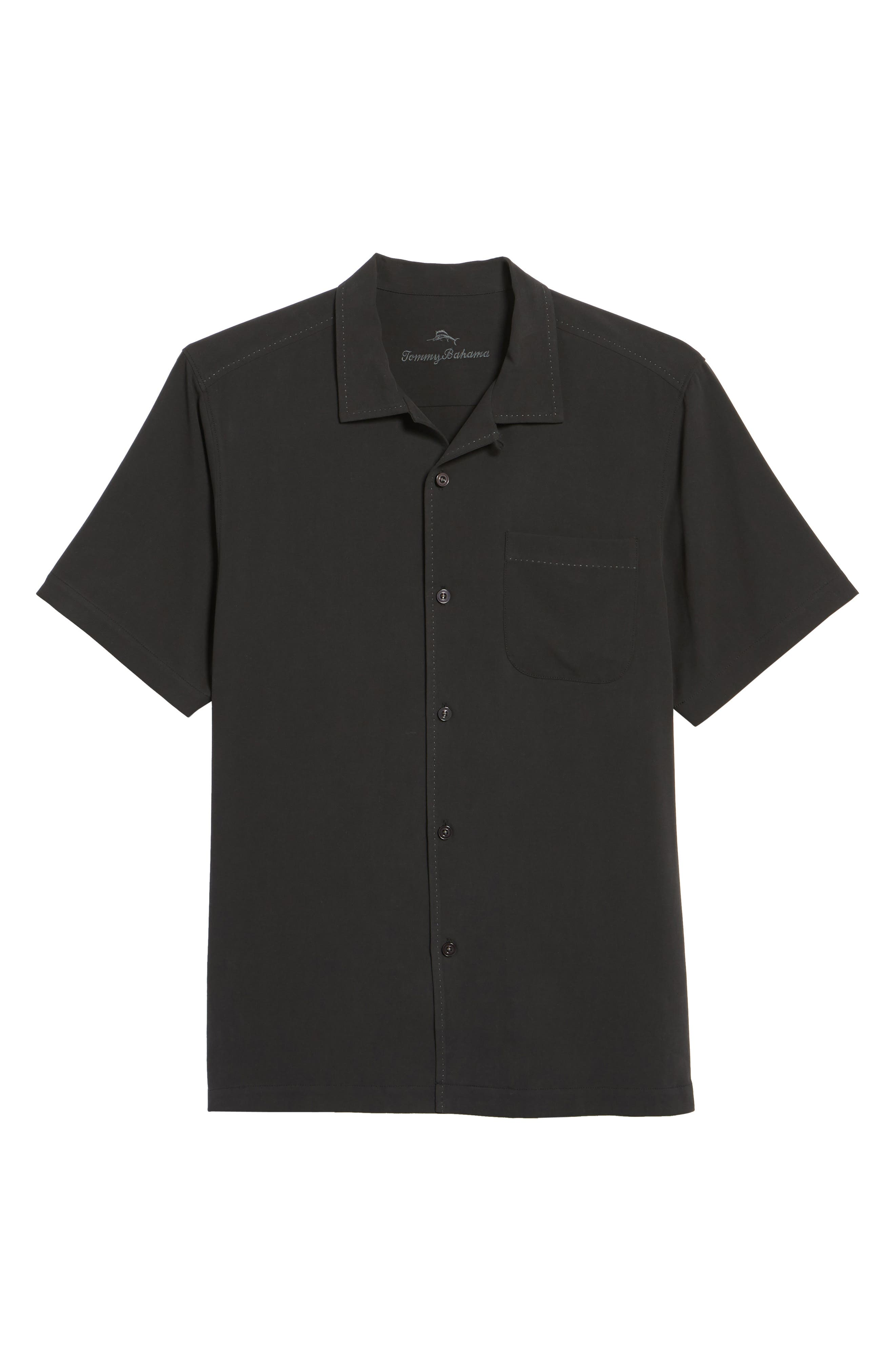 Catalina Twill Sport Shirt,                             Alternate thumbnail 6, color,                             Black