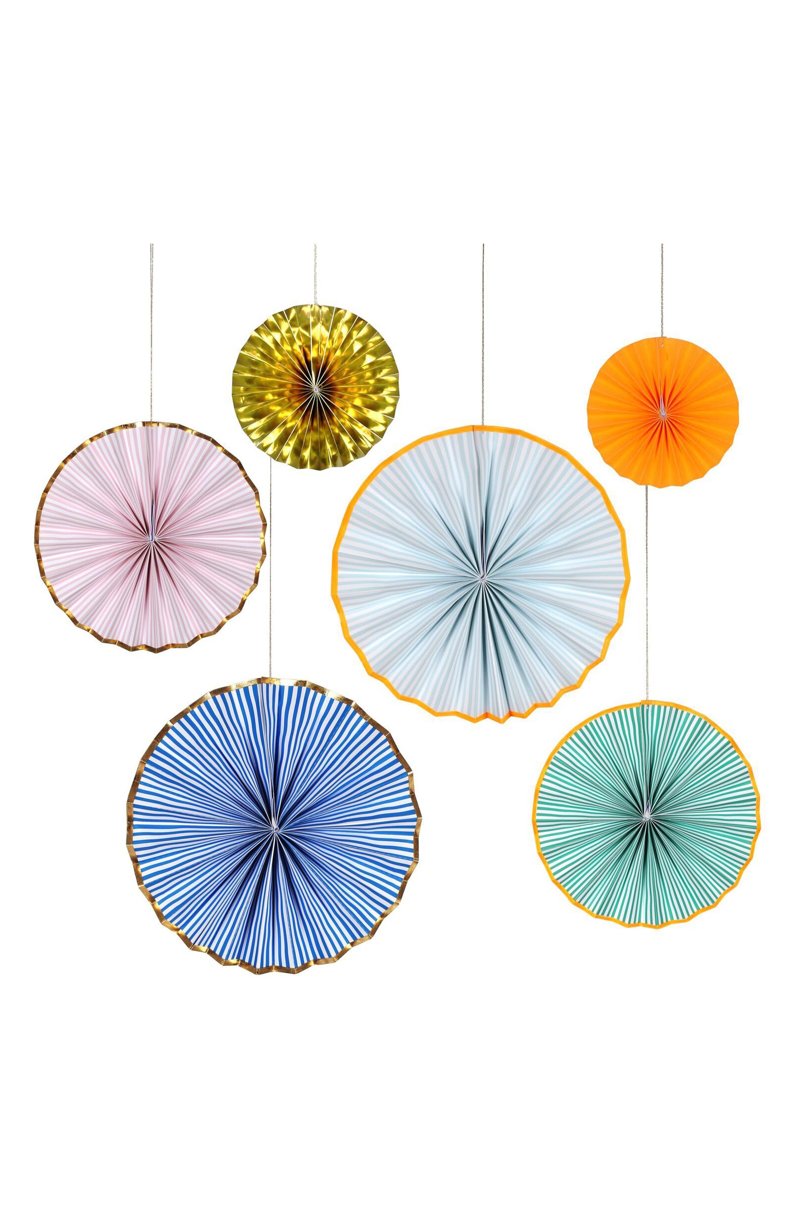 6-Pack Pinwheel Party Decorations,                             Alternate thumbnail 2, color,                             Blue Stripe Multi