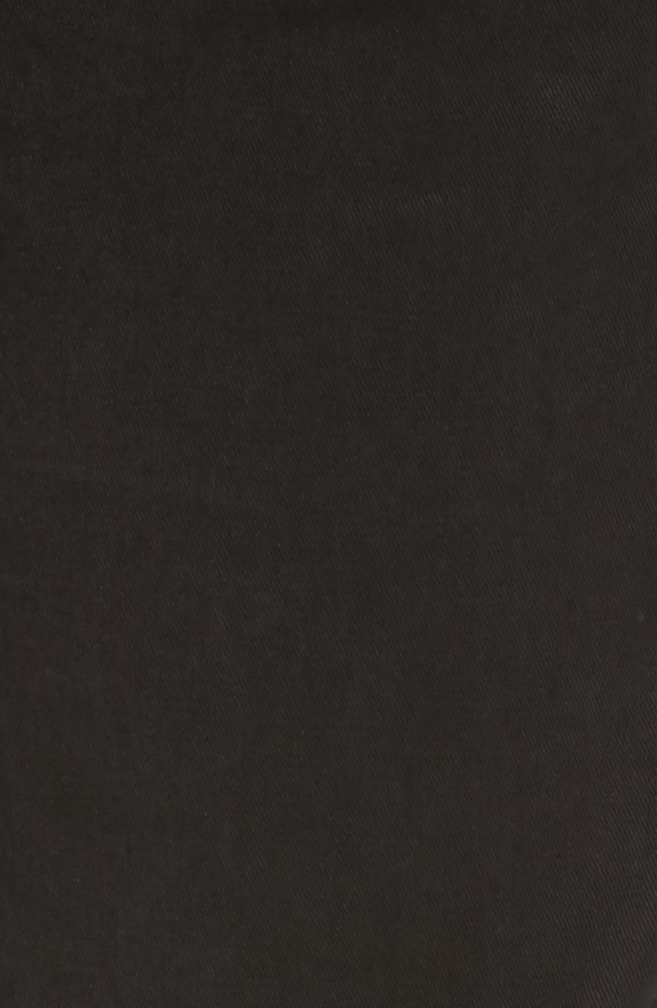 Slim Fit Washed Five-Pocket Pants,                             Alternate thumbnail 5, color,                             Black