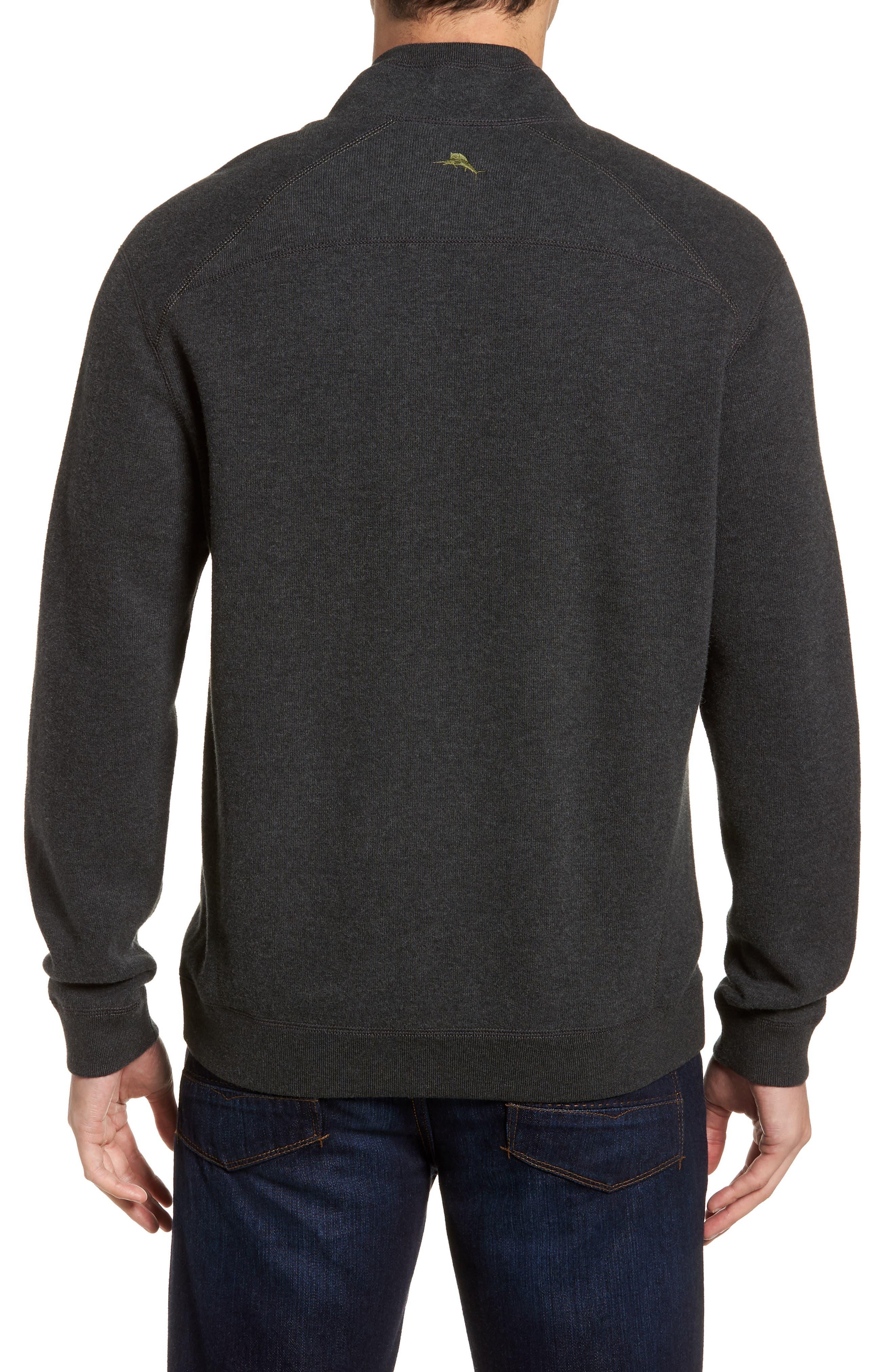 Flip Side Reversible Quarter Zip Pullover,                             Alternate thumbnail 2, color,                             Steel Wool Heather