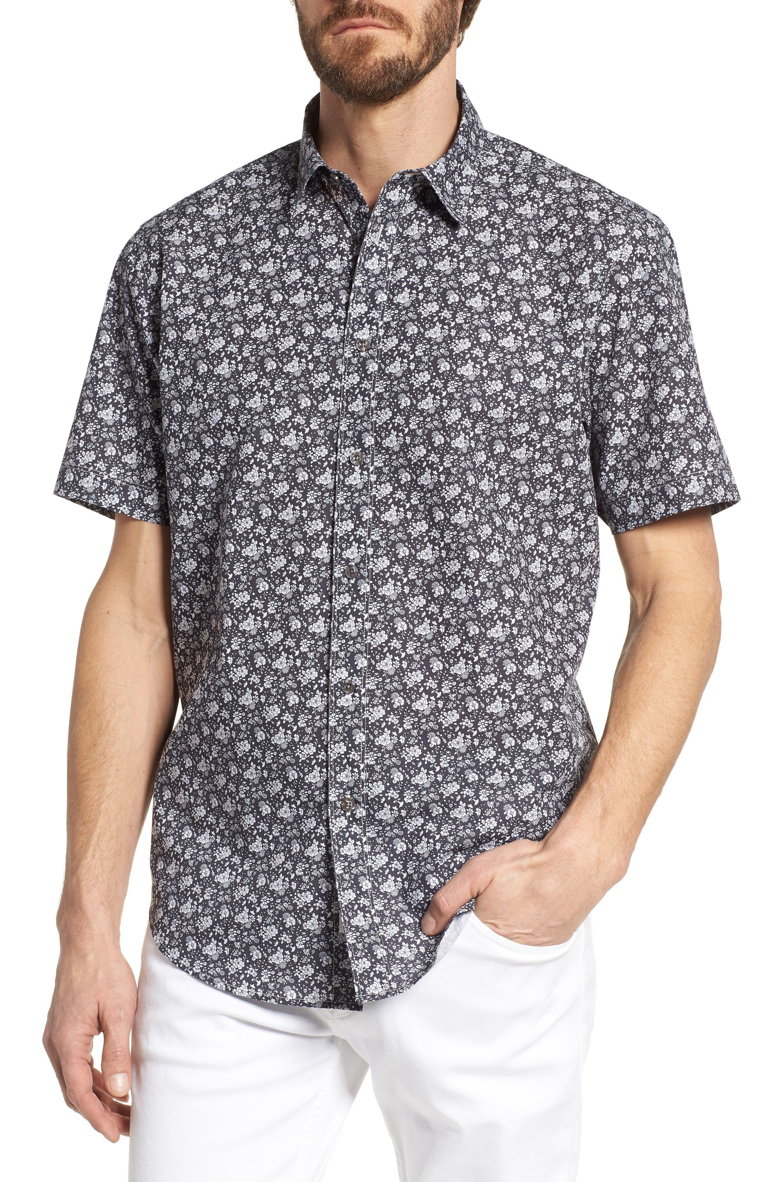 Coastaoro Hidalgo Regular Fit Print Short Sleeve Sport Shirt