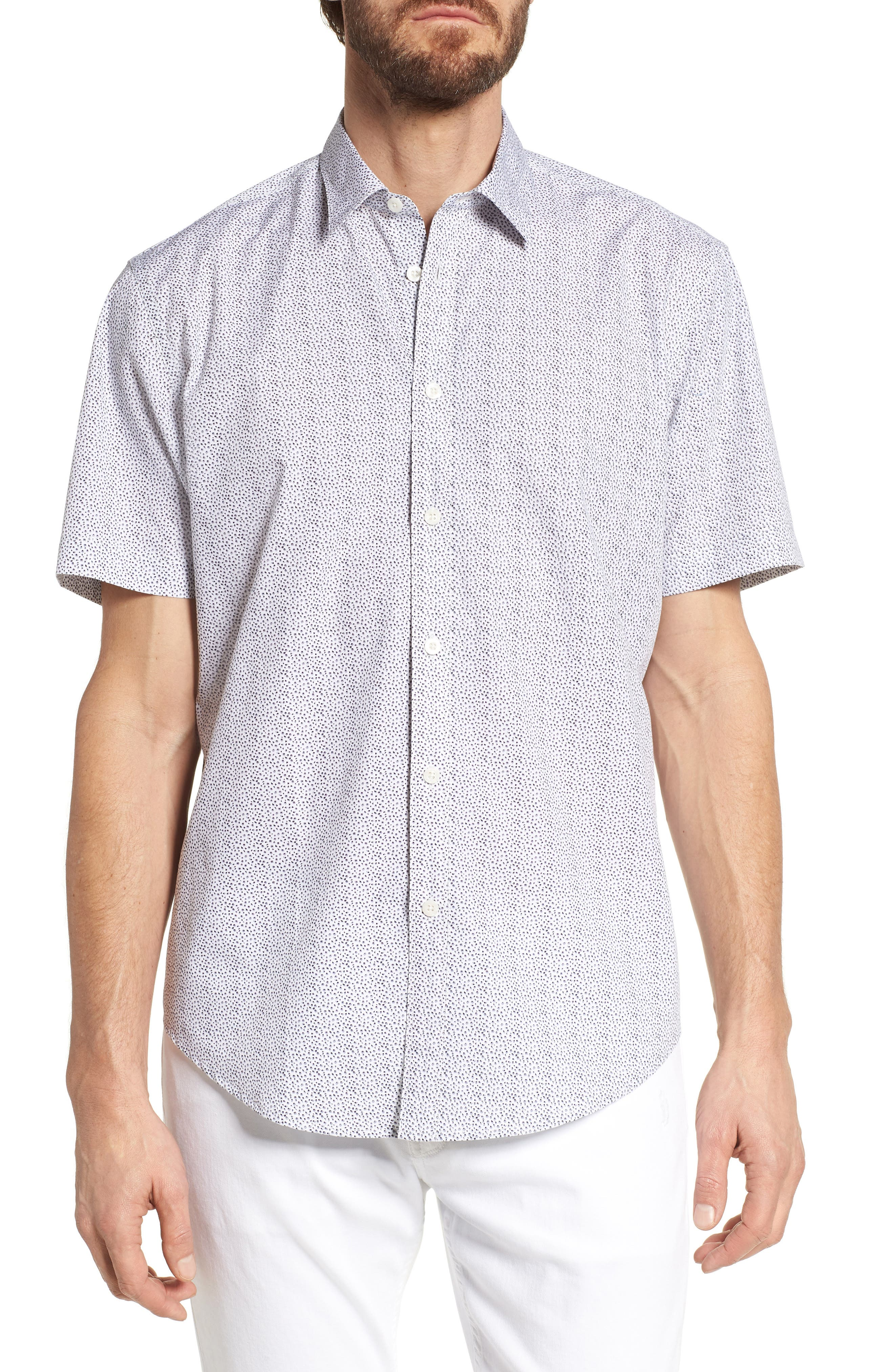 Coastaoro Cheate Regular Fit Print Short Sleeve Sport Shirt