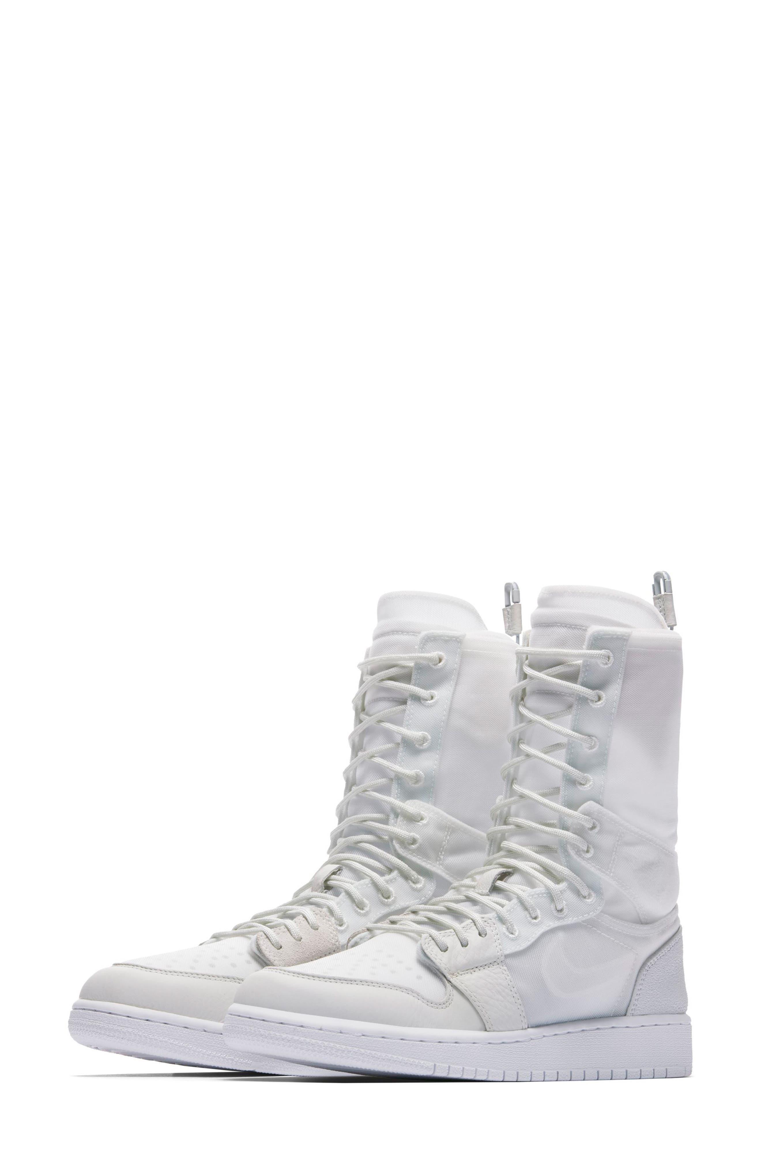 Air Jordan 1 Explorer XX Convertible High Top Sneaker,                             Main thumbnail 1, color,                             Off White/ Off White