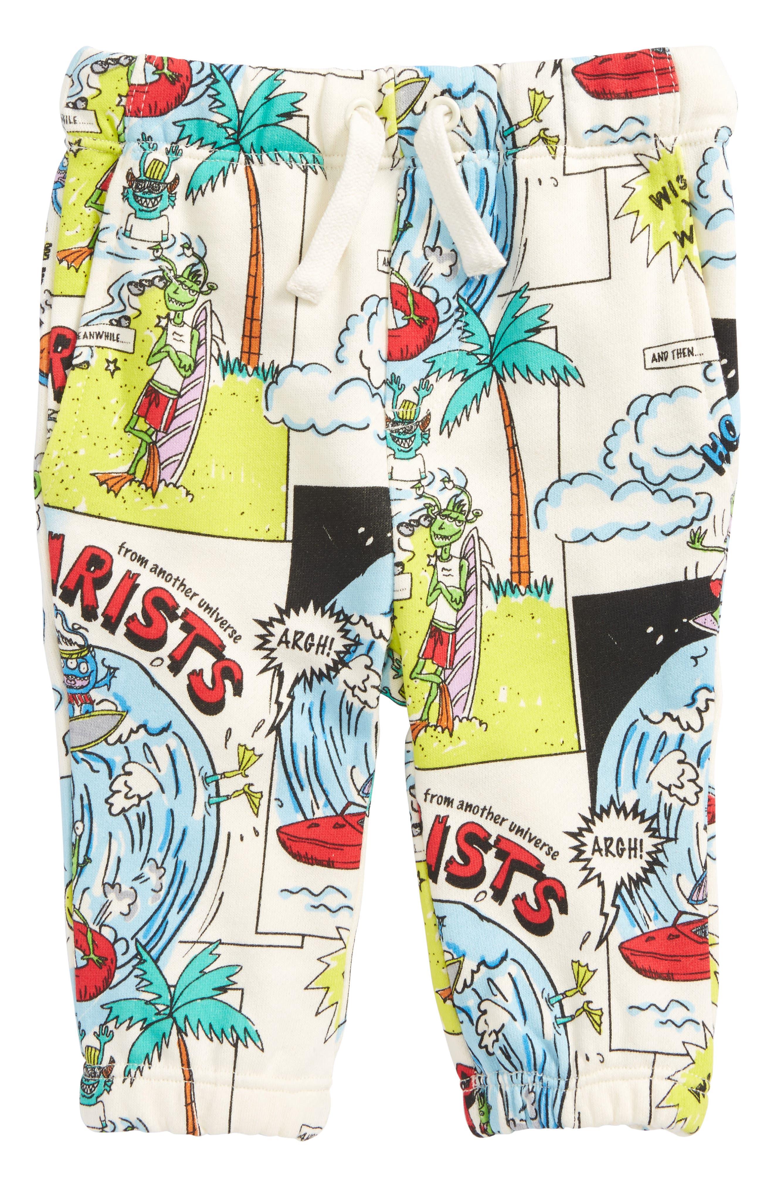 Alternate Image 1 Selected - Stella McCartney Loopie Cartoon Print Sweatpants (Baby Boys)