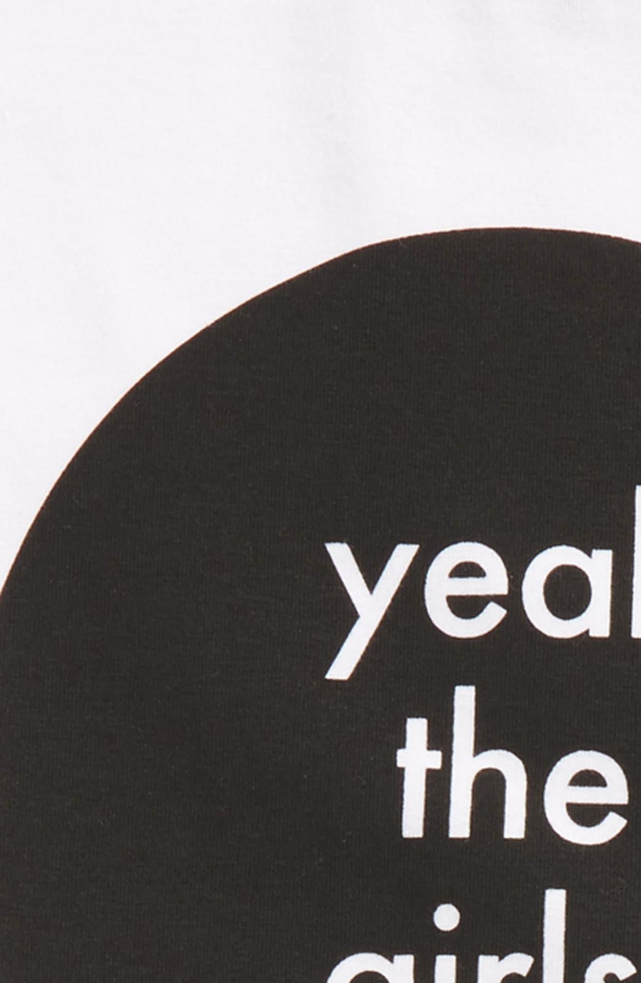 Yeah the Girls Tee & Skirt Set,                             Alternate thumbnail 2, color,                             White / Grey