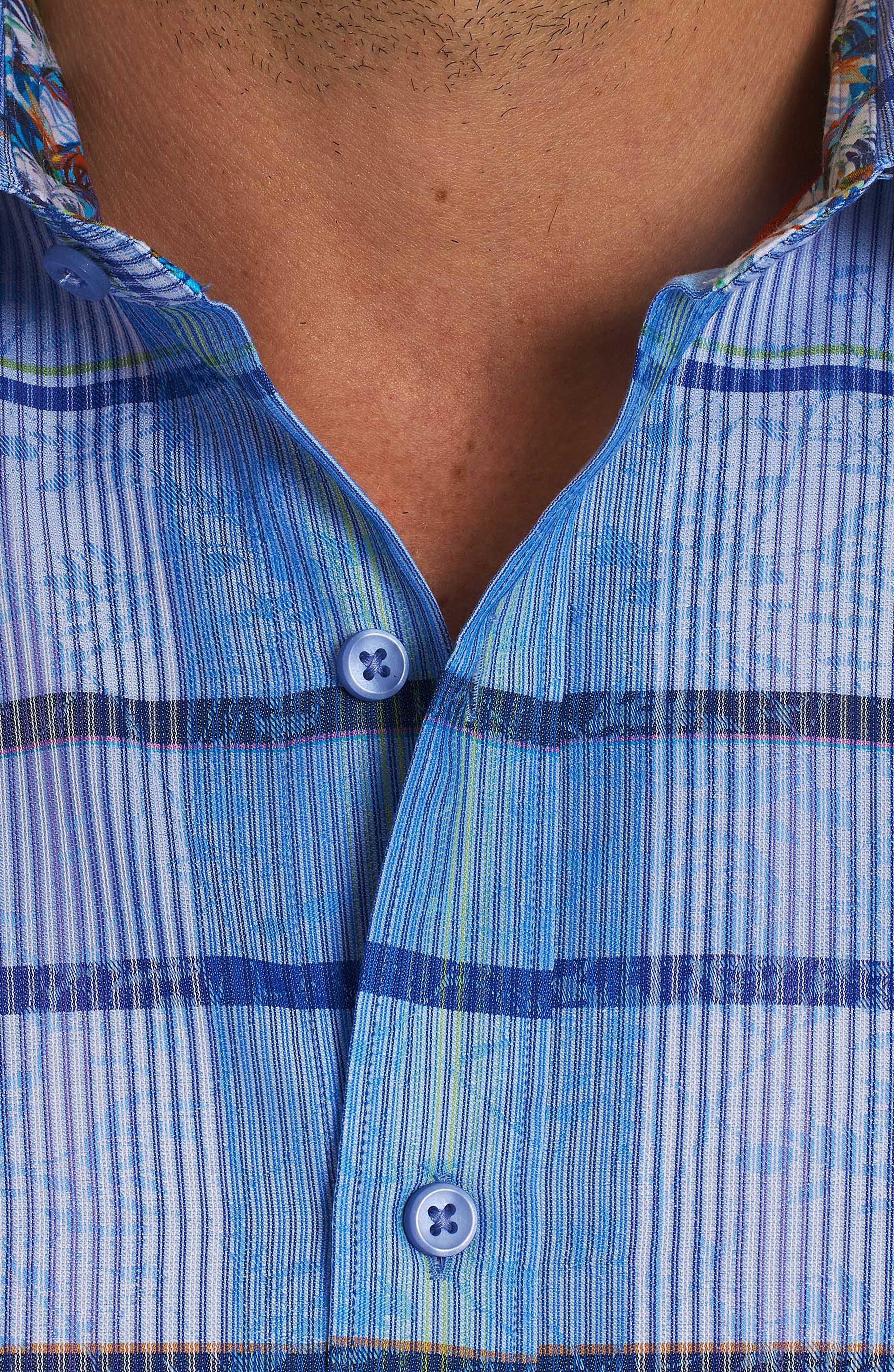 Ferro Classic Fit Sport Shirt,                             Alternate thumbnail 4, color,                             Blue