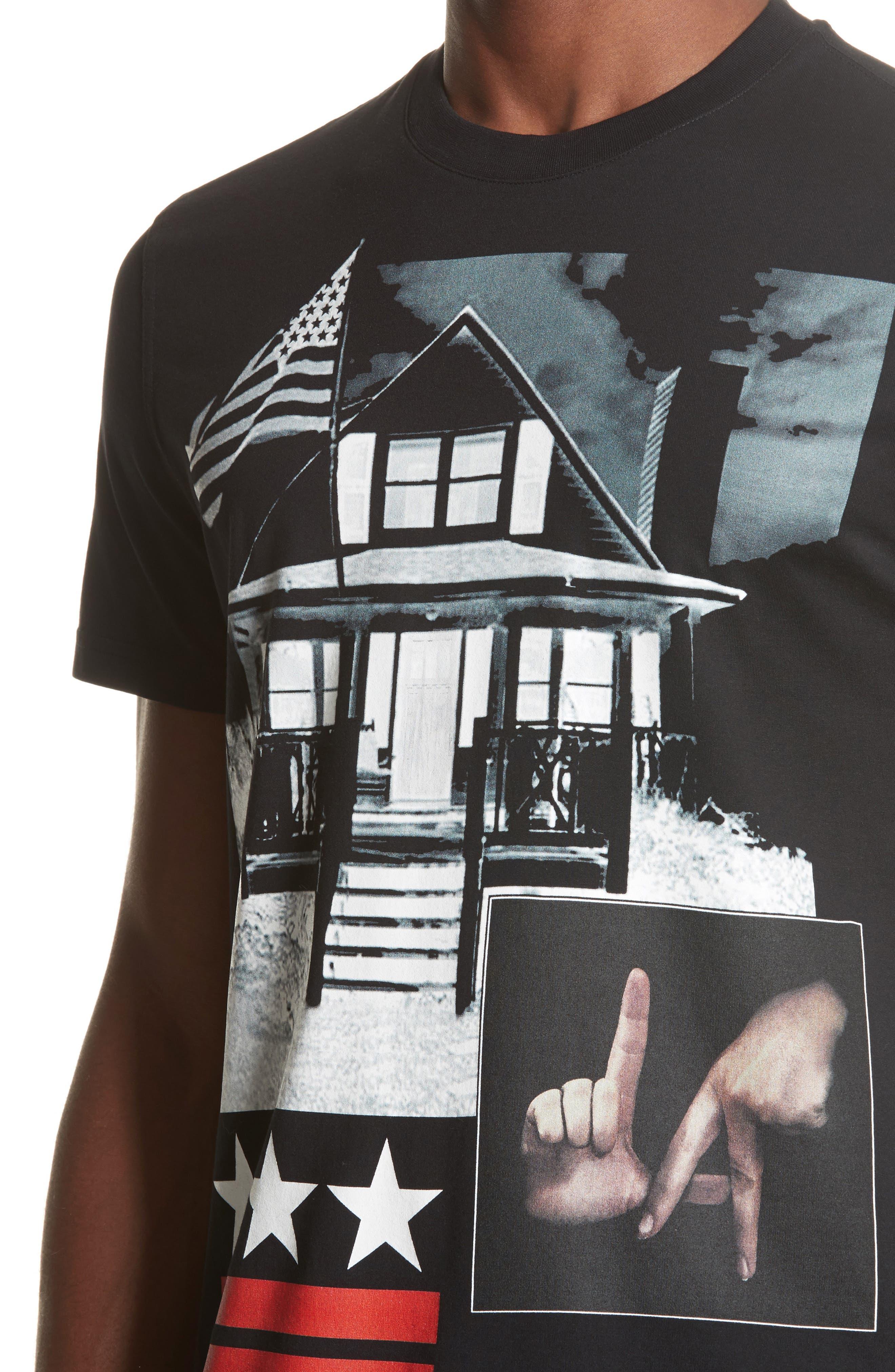 LA House Graphic T-Shirt,                             Alternate thumbnail 4, color,                             Black