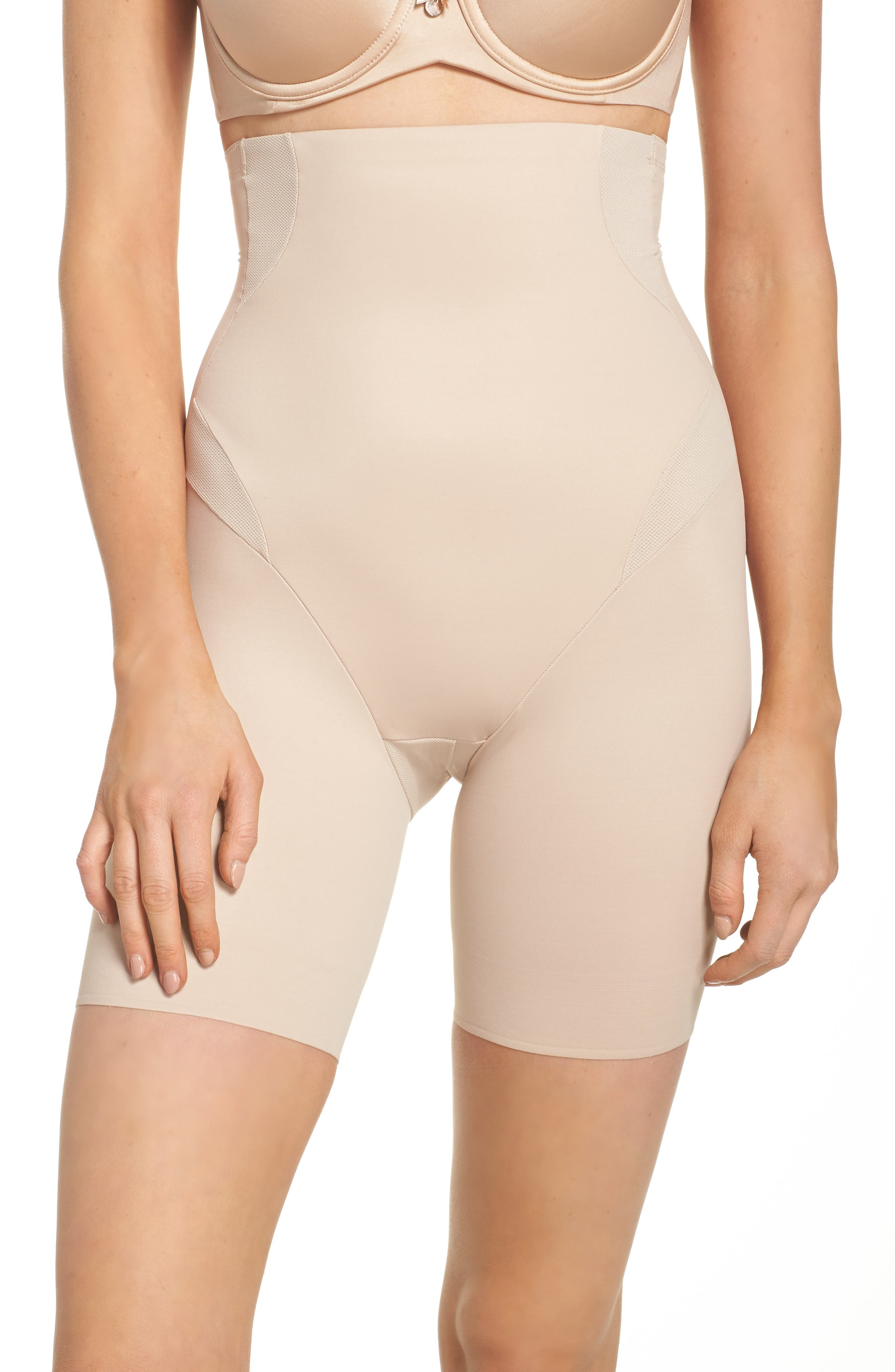 Cooling High Waist Shaping Boyshorts,                         Main,                         color, Nude