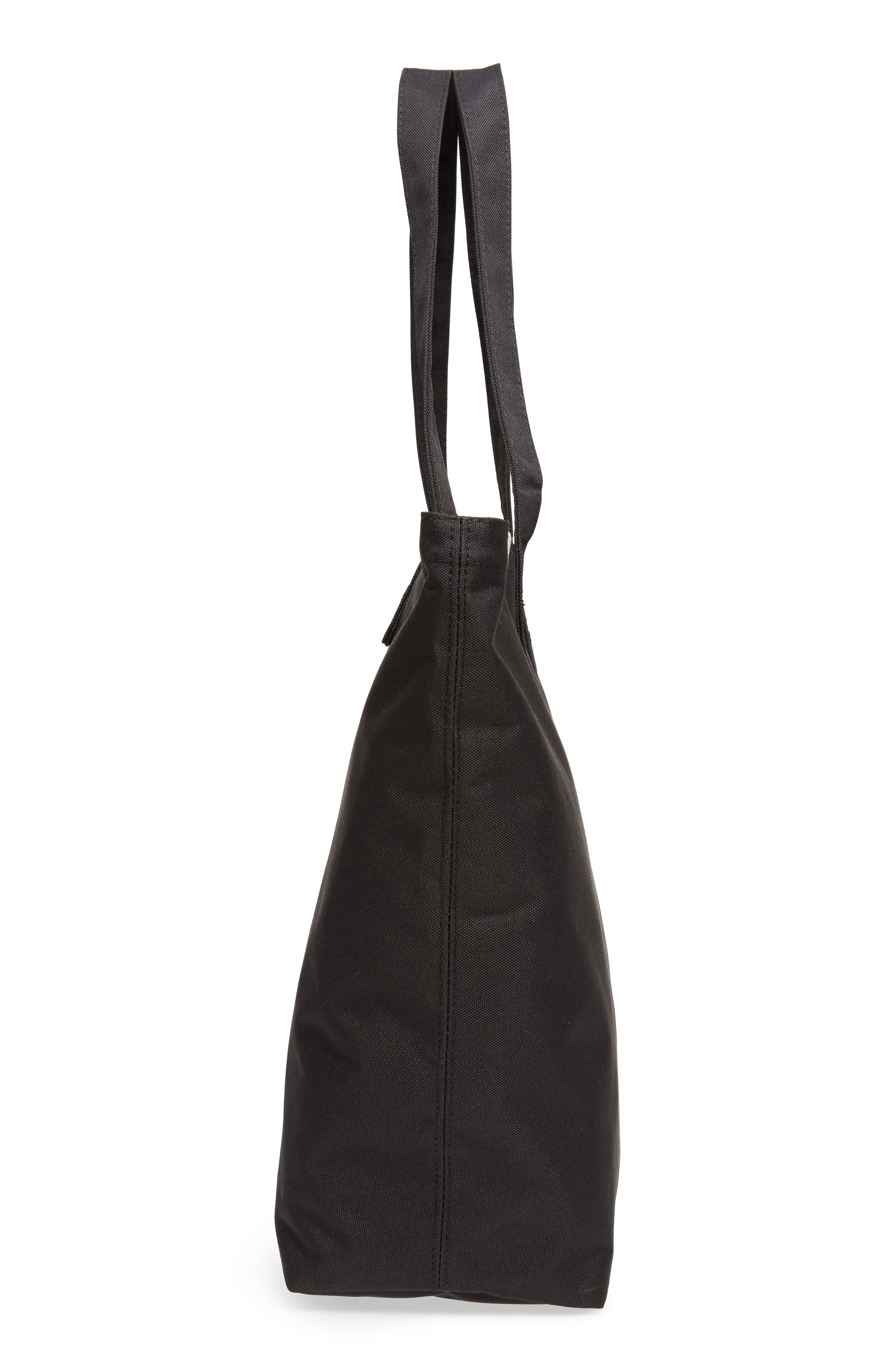 Mica Canvas Tote,                             Alternate thumbnail 5, color,                             Black