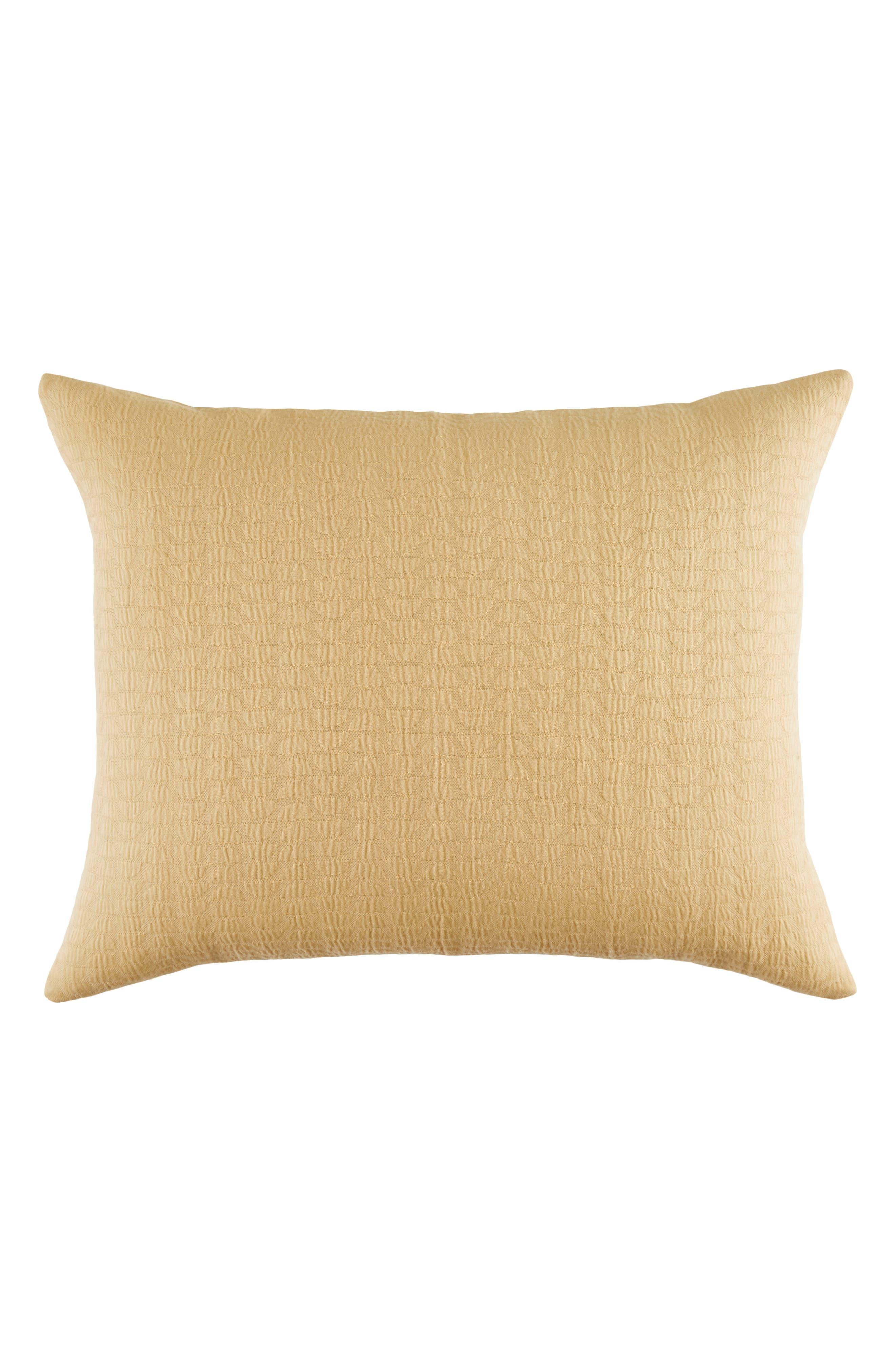 Cosima 200 Thread Count Pillow Sham,                             Main thumbnail 1, color,                             Medium Yellow