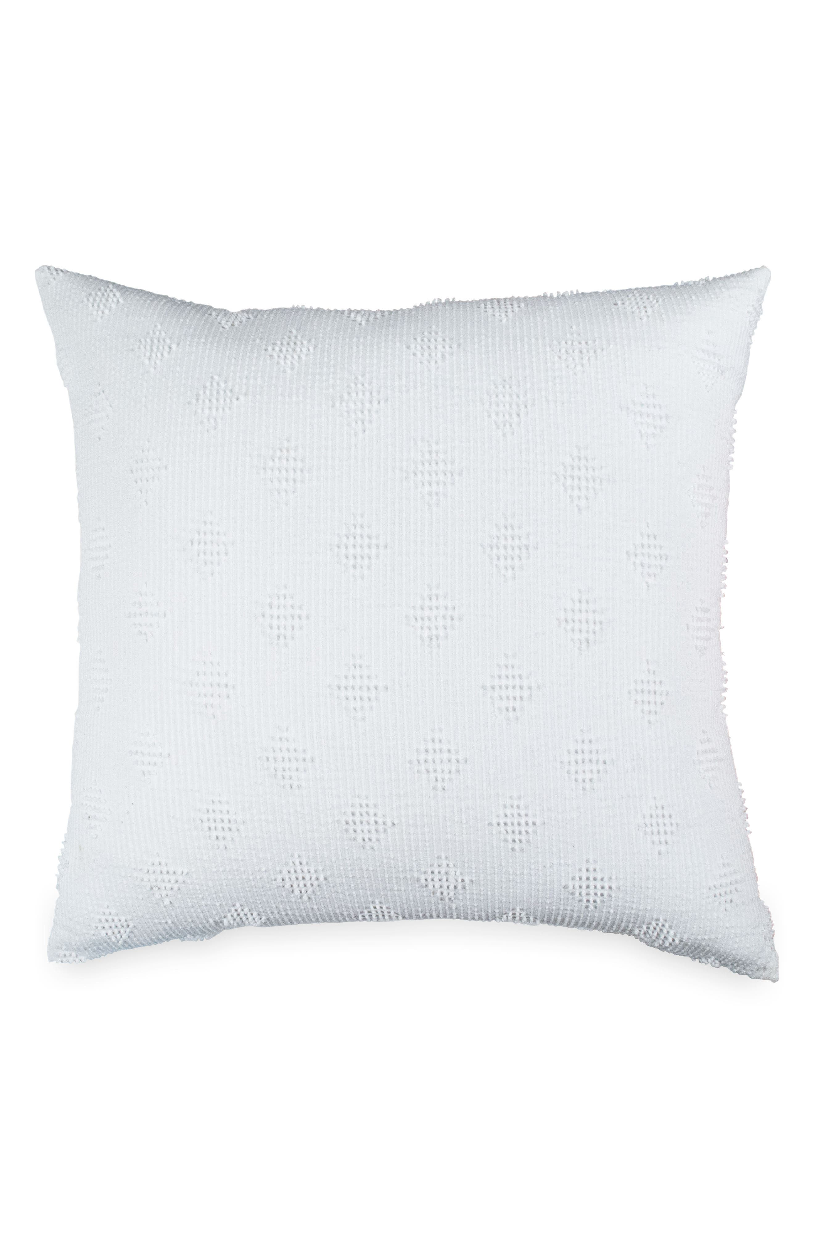 Candlewick Diamond Euro Sham,                         Main,                         color, White