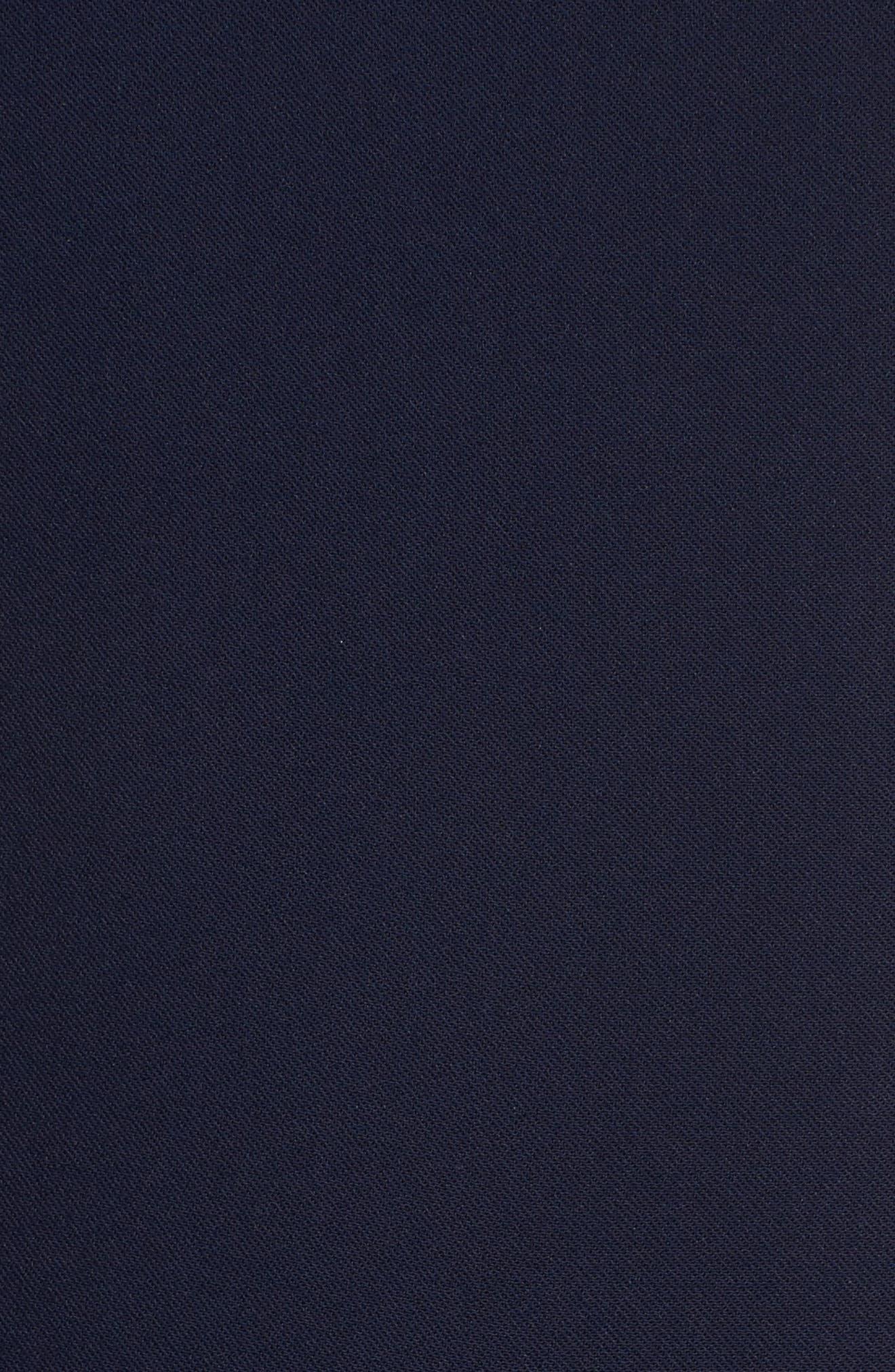 Jennifer Lace Trim Jumpsuit,                             Alternate thumbnail 5, color,                             Navy