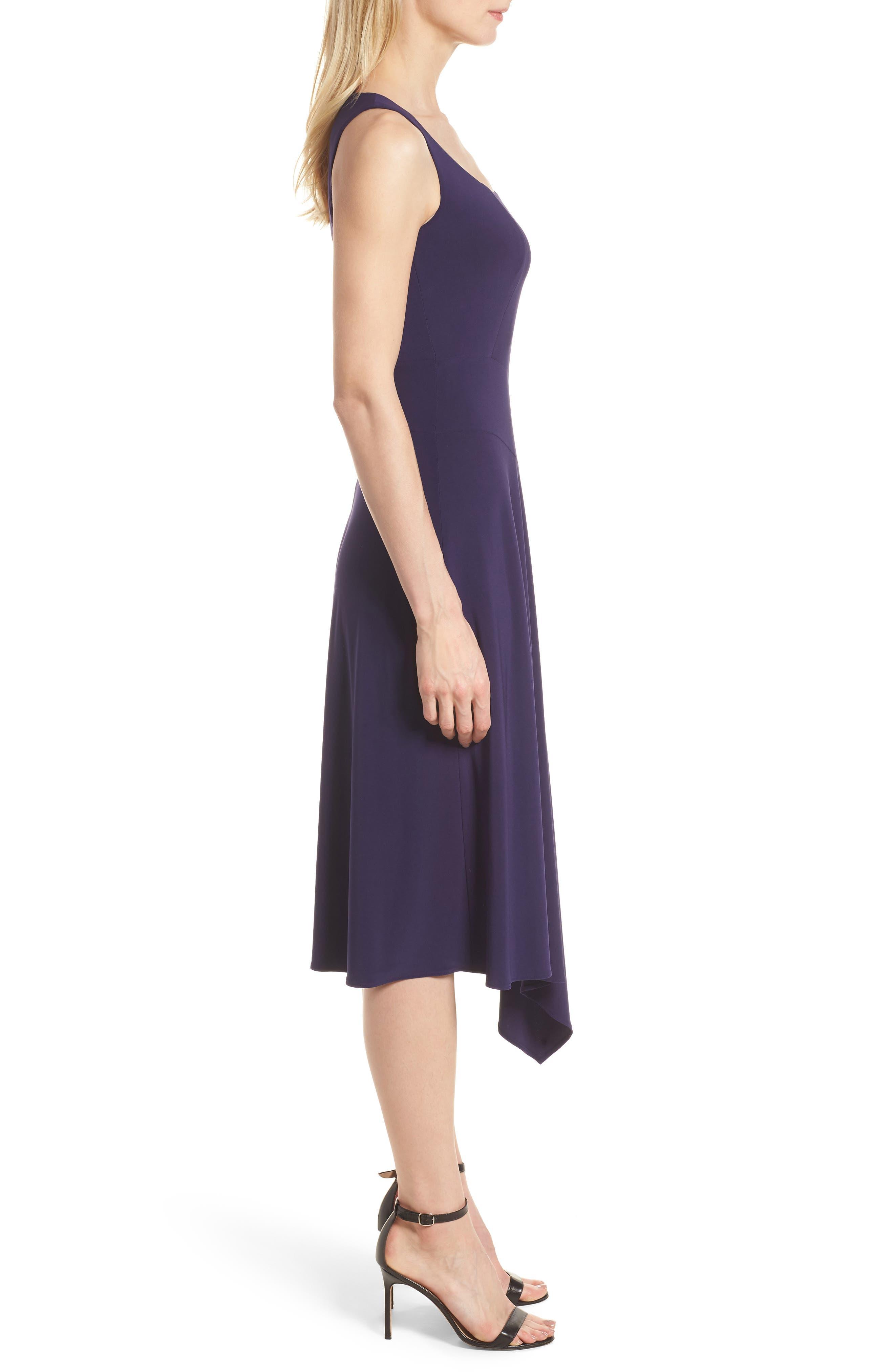 Asymmetrical Knit Dress,                             Alternate thumbnail 3, color,                             Monaco