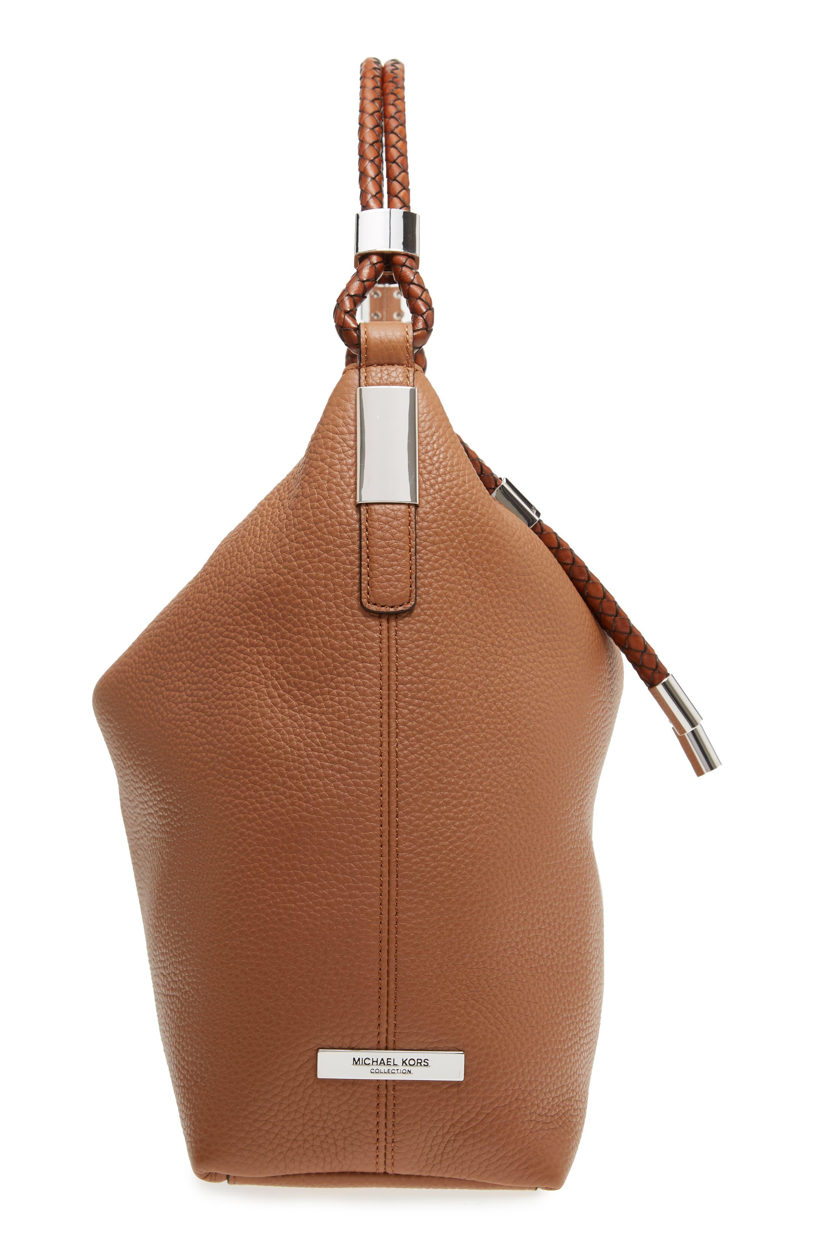 Shop Michael Kors  Skorpios  Slouchy Shoulder Bag - Brown In Acorn b00475d95