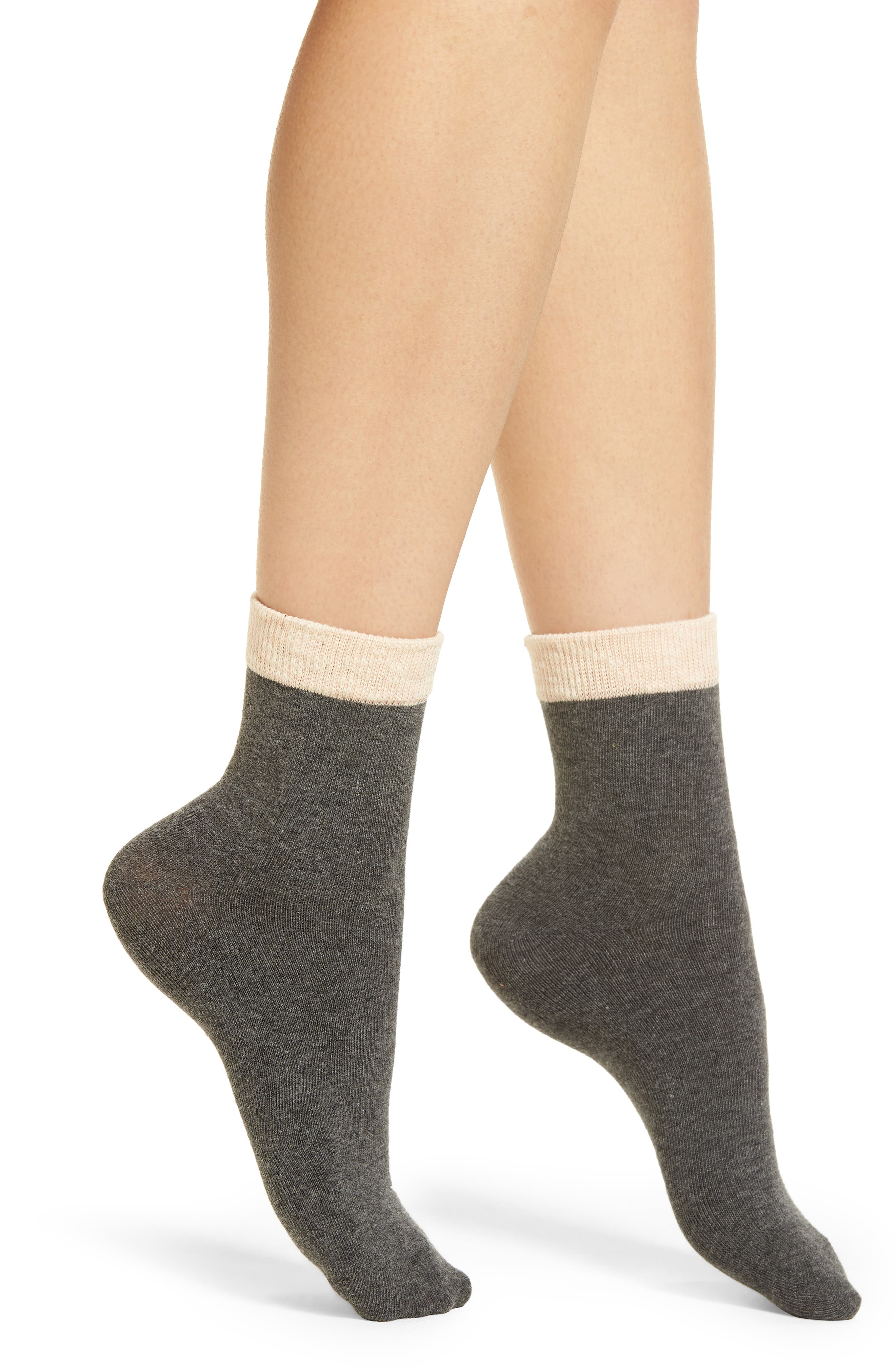 Ivy Ankle Socks,                             Main thumbnail 1, color,                             Charcoal