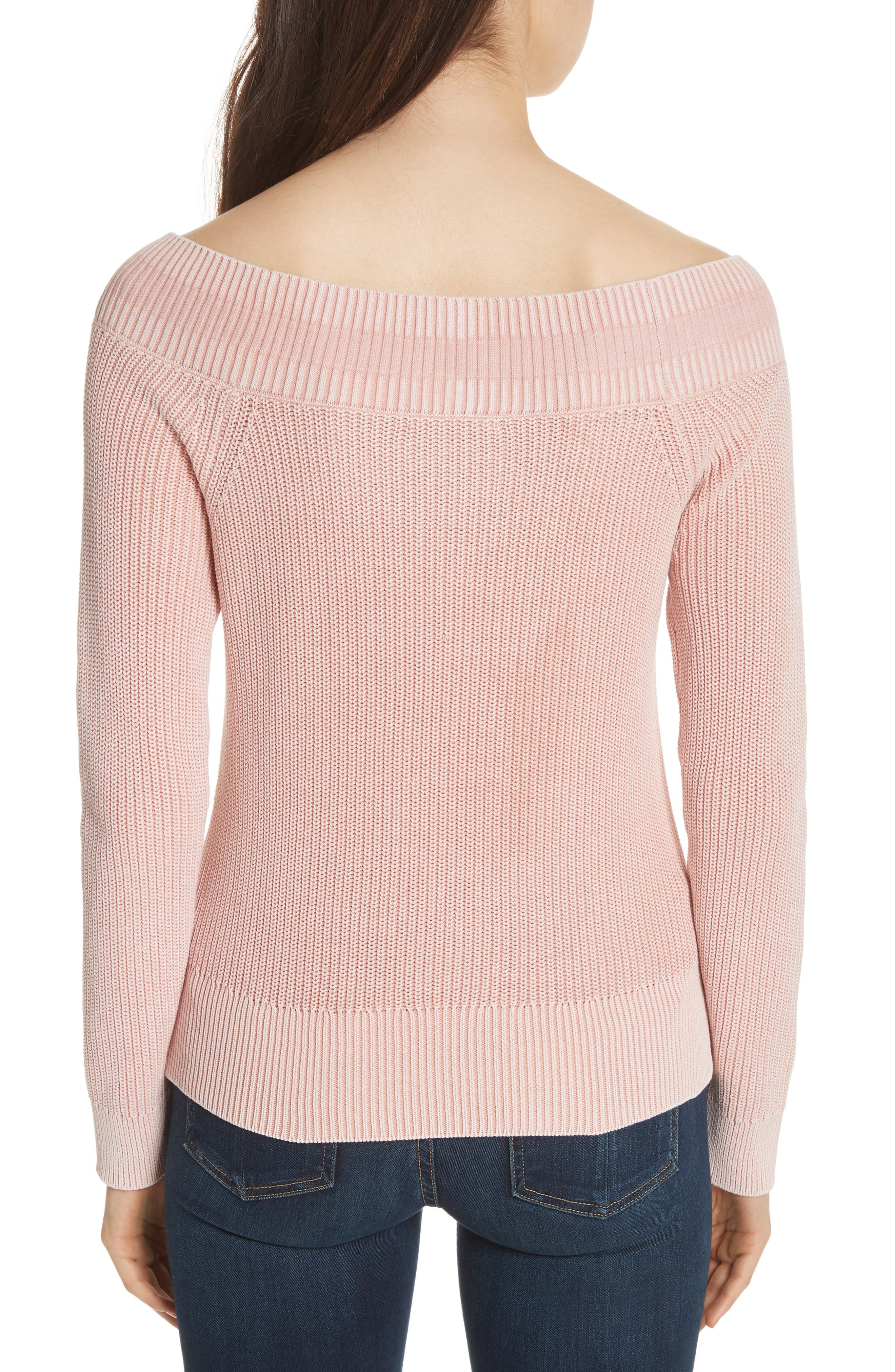 Dawn Off the Shoulder Knit Top,                             Alternate thumbnail 2, color,                             Pink