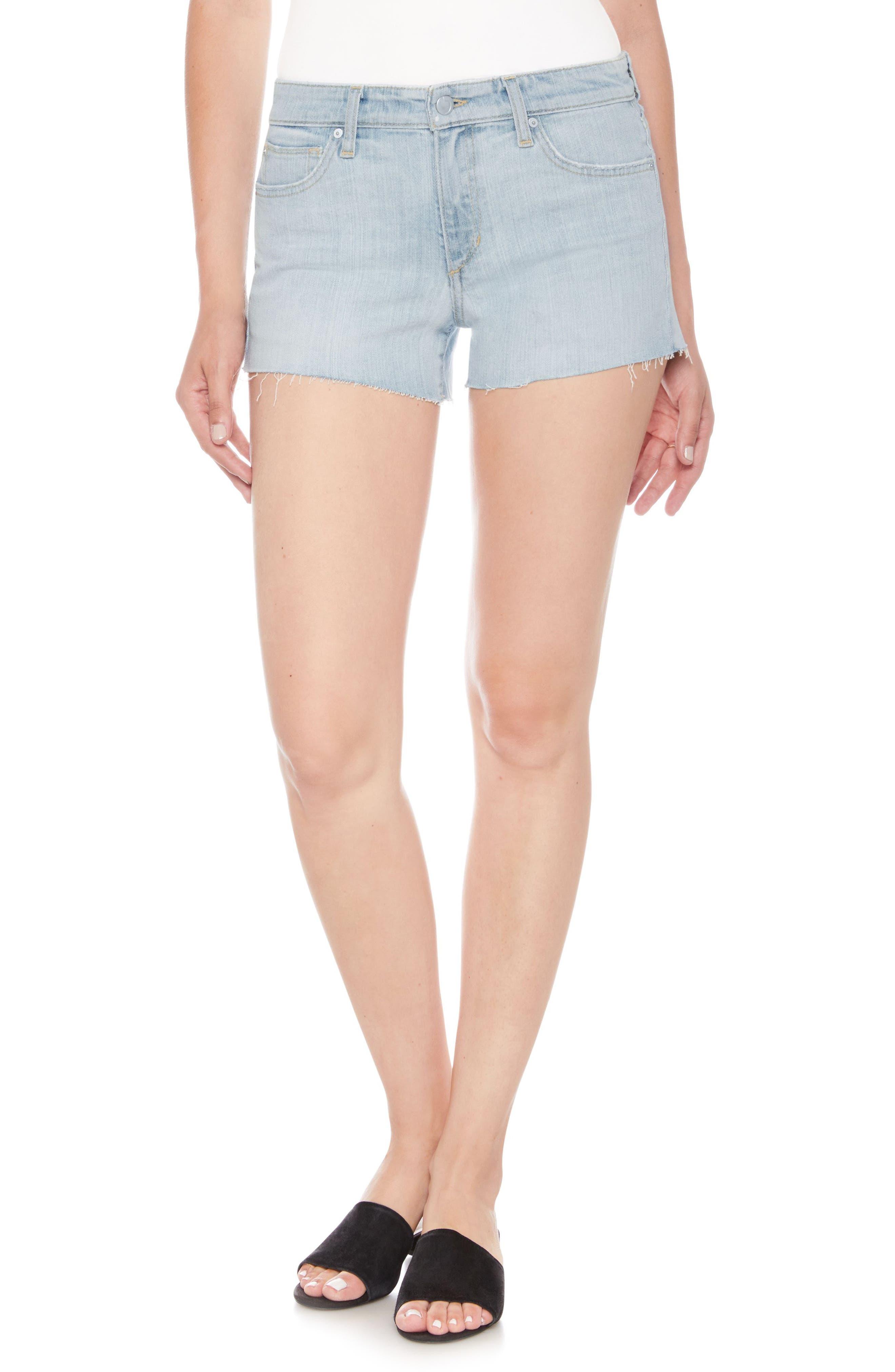Cutoff Denim Shorts,                             Main thumbnail 1, color,                             Kelis