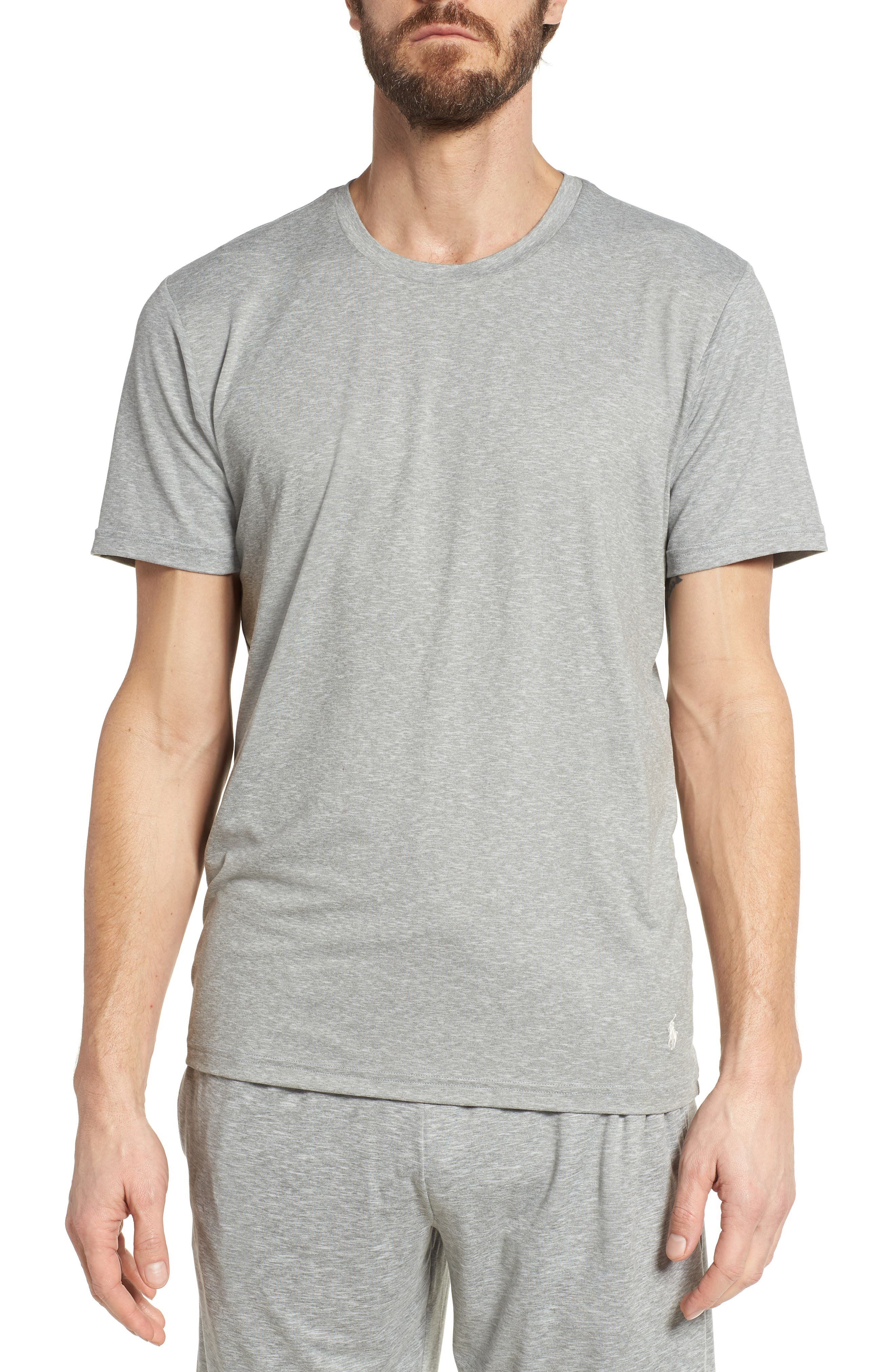 Therma Sleep Crewneck T-Shirt,                             Main thumbnail 1, color,                             Andover Heather/ Nevis