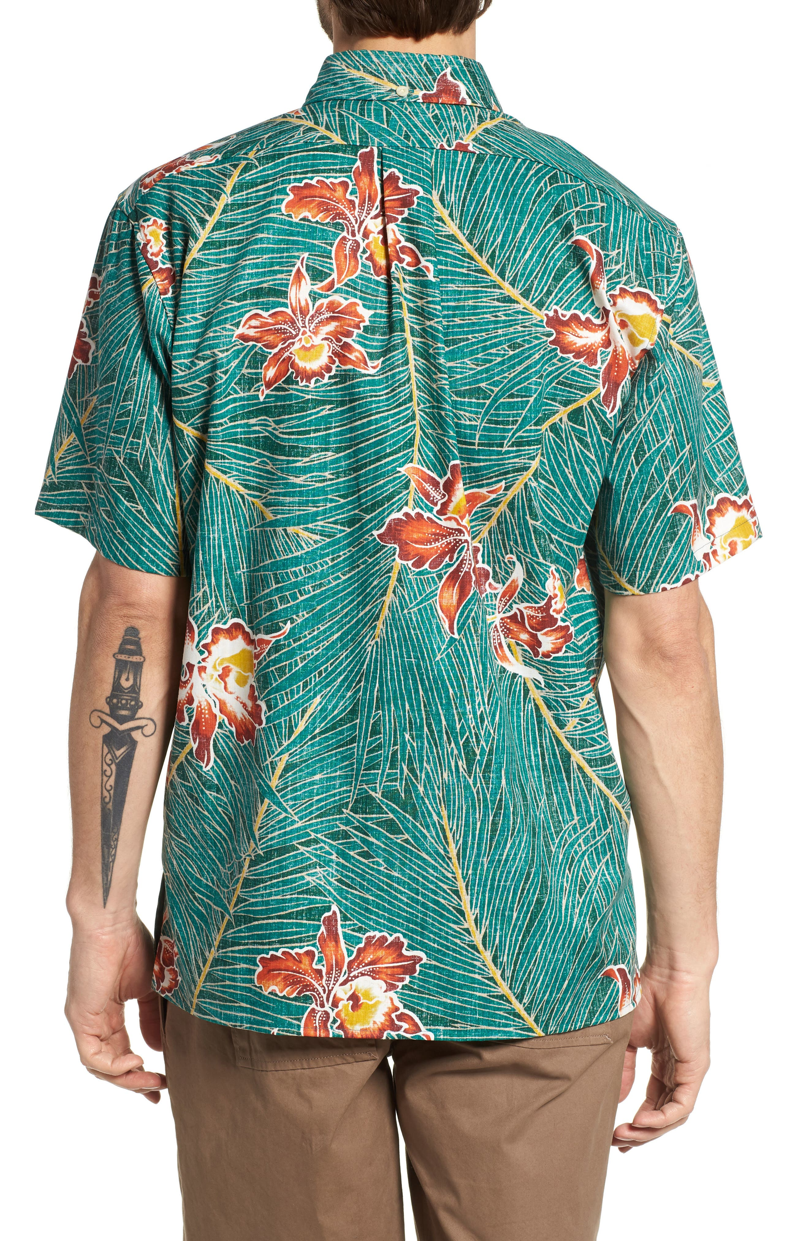 Okika Oasis Traditional Fit Sport Shirt,                             Alternate thumbnail 2, color,                             Emerald
