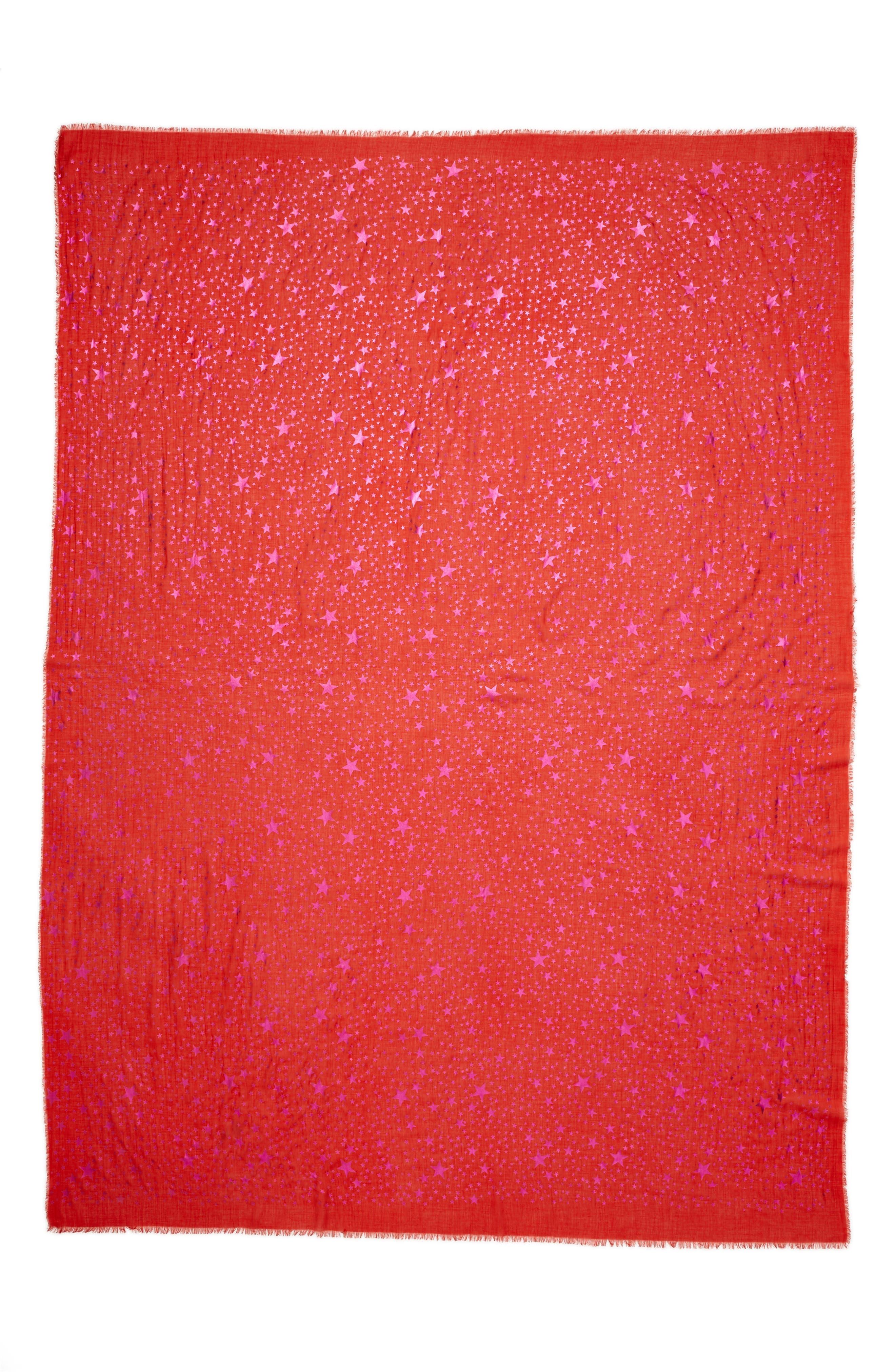 Stella McCartney Star Foil Print Scarf