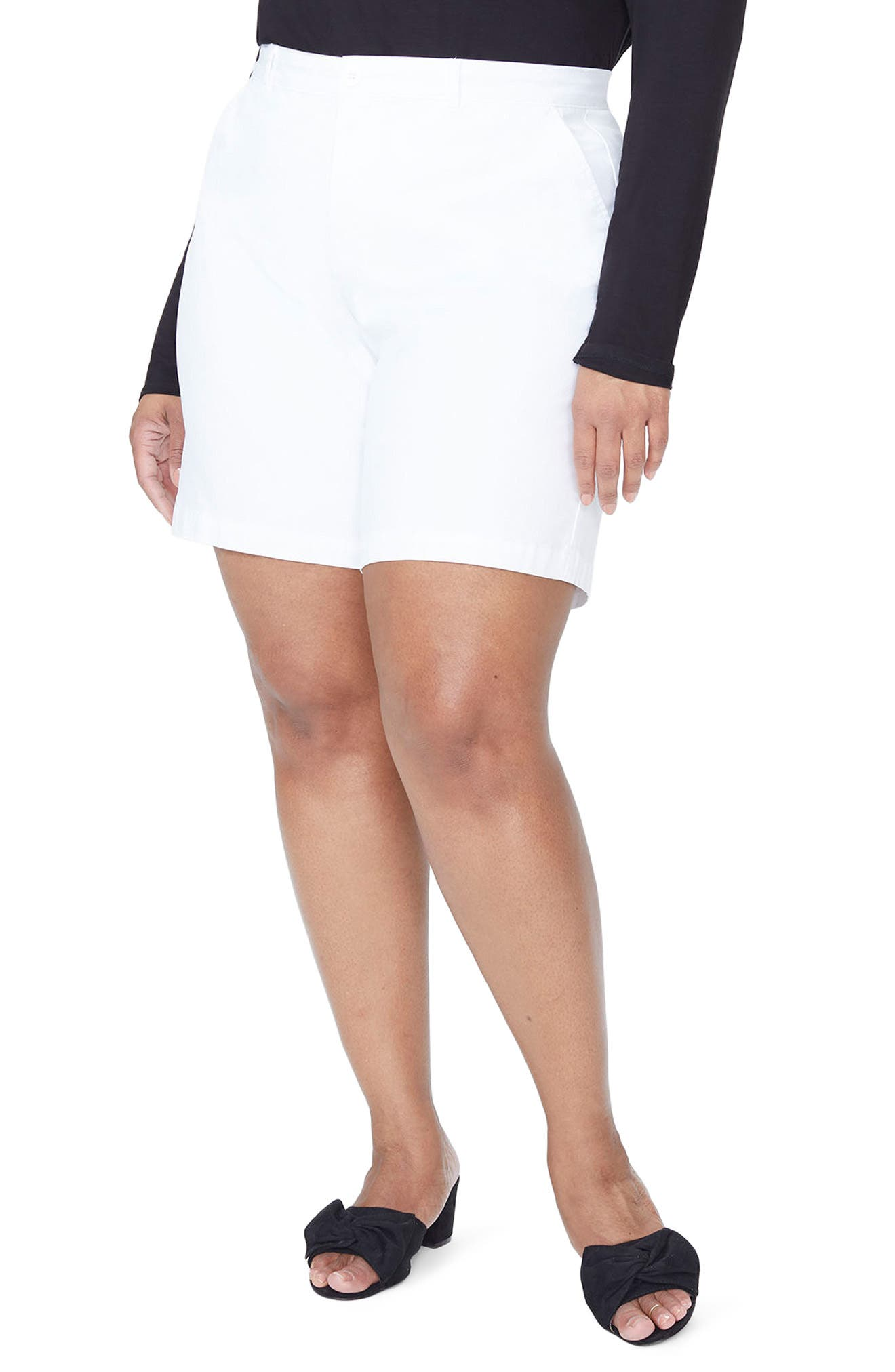 Stretch Twill Bermuda Shorts,                             Main thumbnail 1, color,                             Optic White