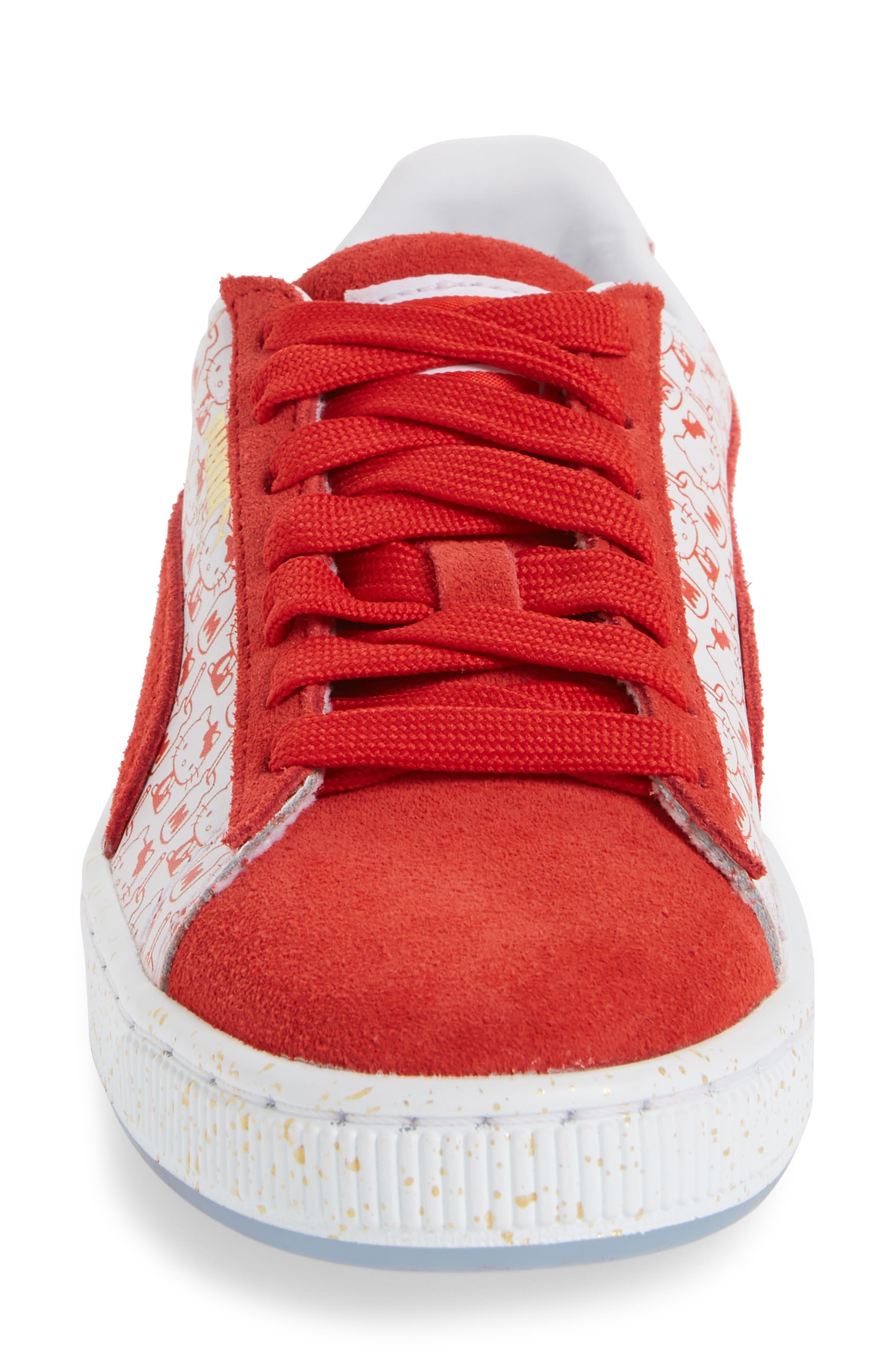 Alternate Image 4  - PUMA x Hello Kitty Suede Classic Sneaker (Baby, Walker, Toddler, Little Kid & Big Kid)