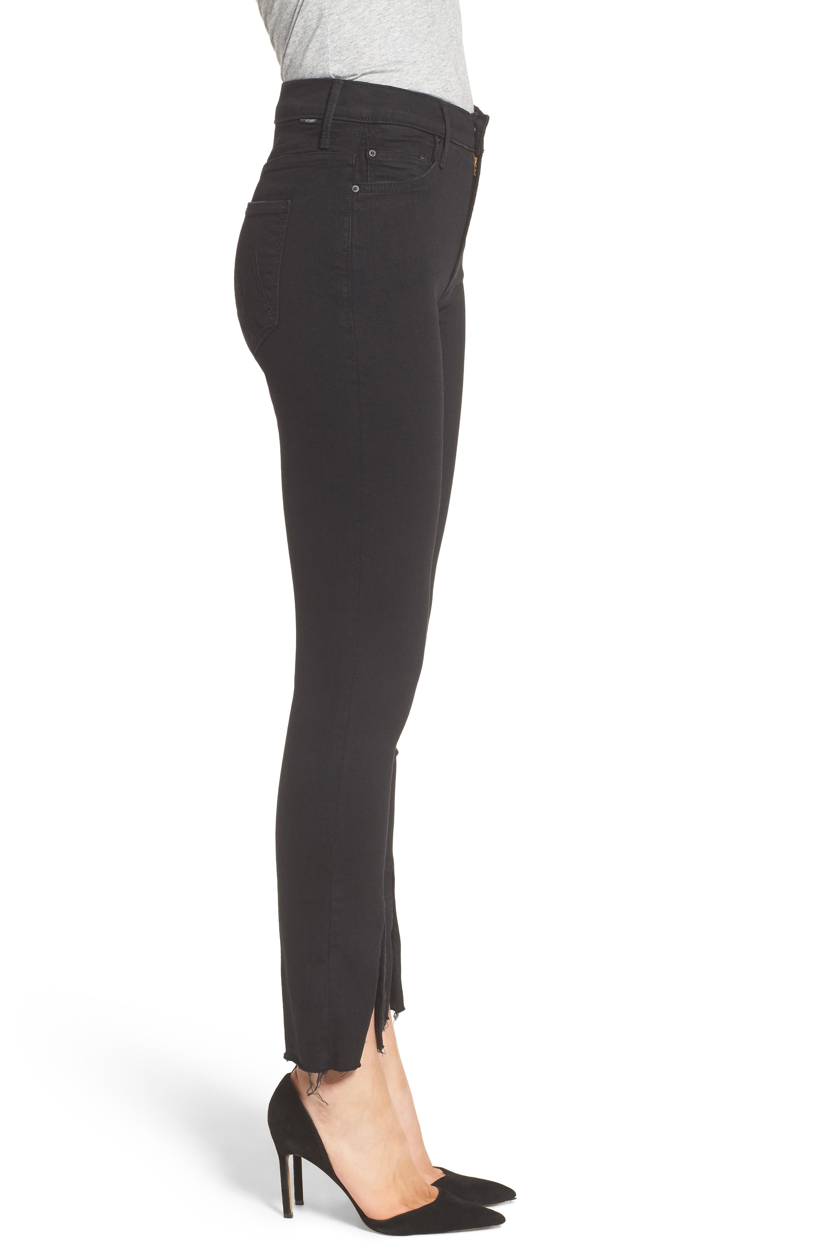 The Insider High Waist Slit Ankle Bootcut Jeans,                             Alternate thumbnail 3, color,                             Not Guilty