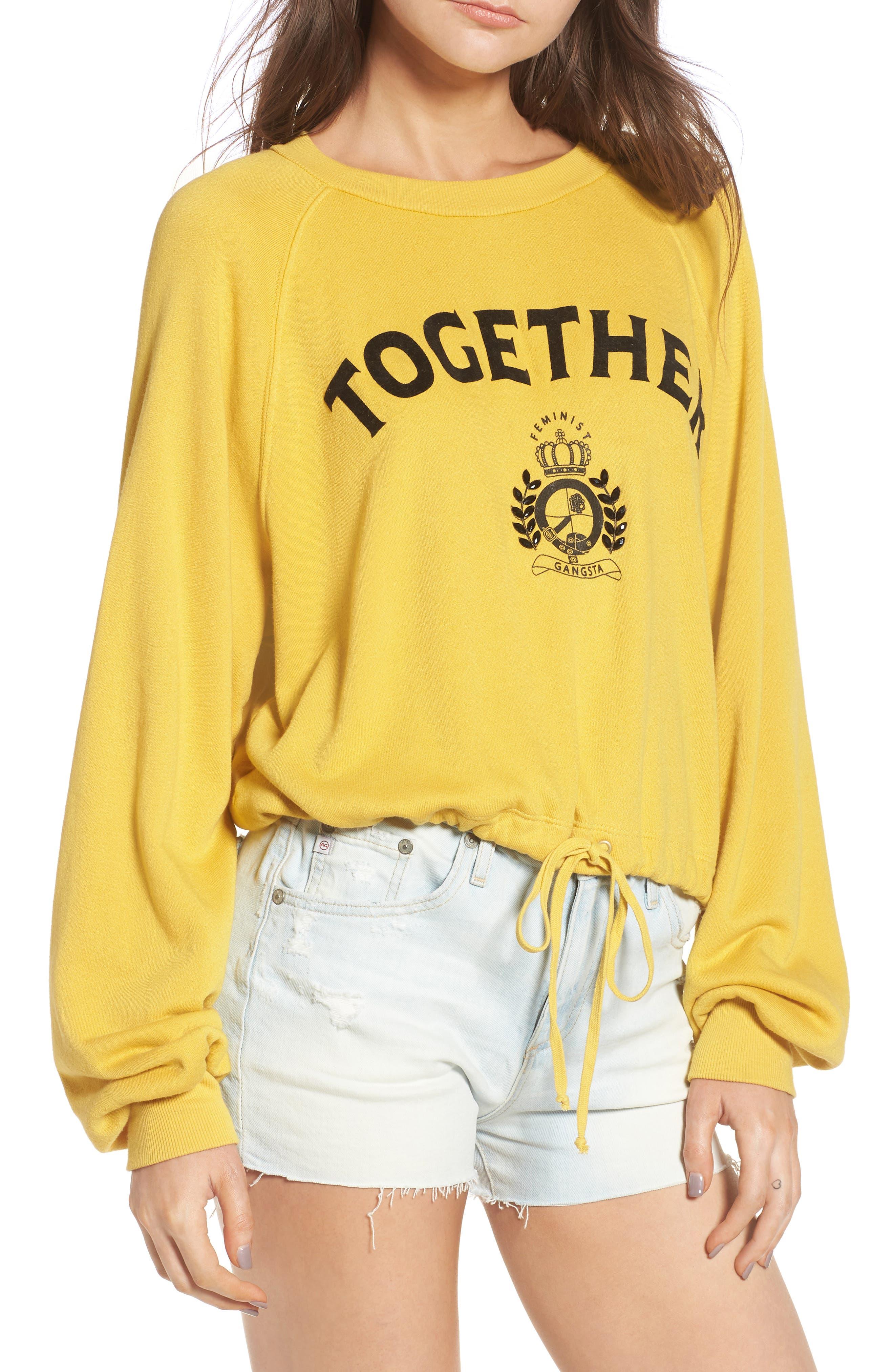 Pam & Gela Together Drawstring Sweatshirt