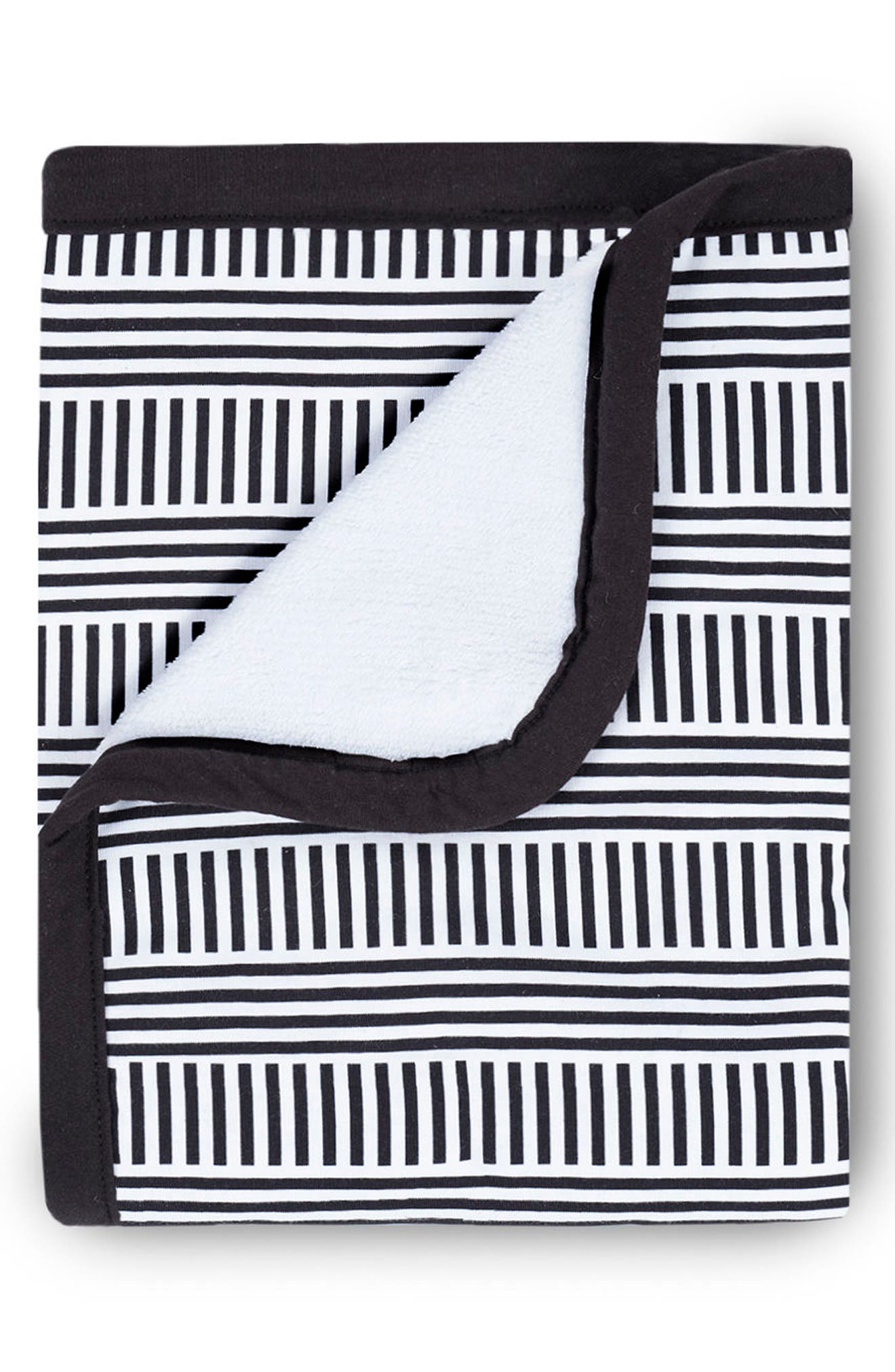 Cuddle Blanket,                             Main thumbnail 1, color,                             Black/ White