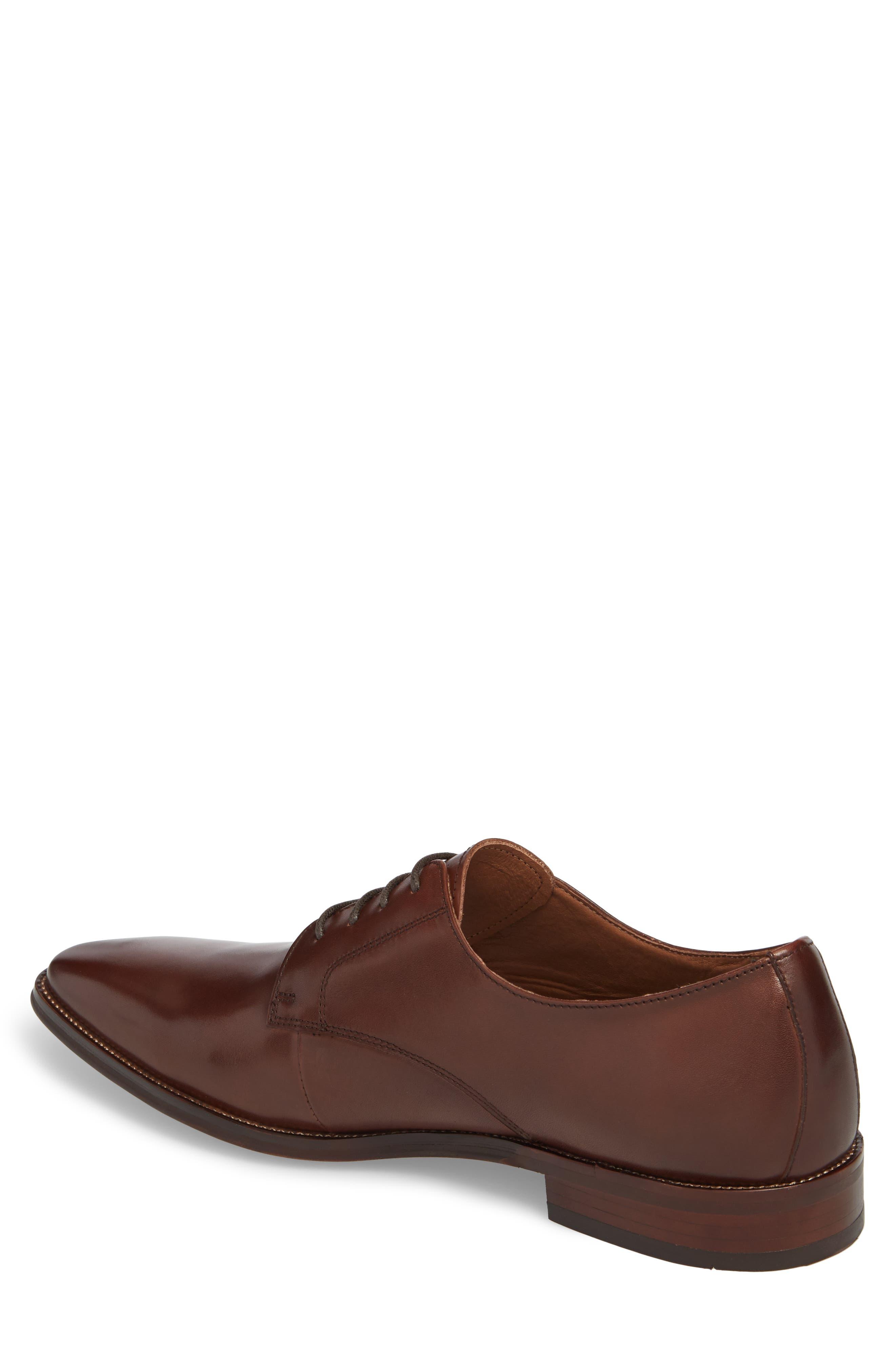 Phoenix Plain Toe Derby,                             Alternate thumbnail 2, color,                             Tan Leather